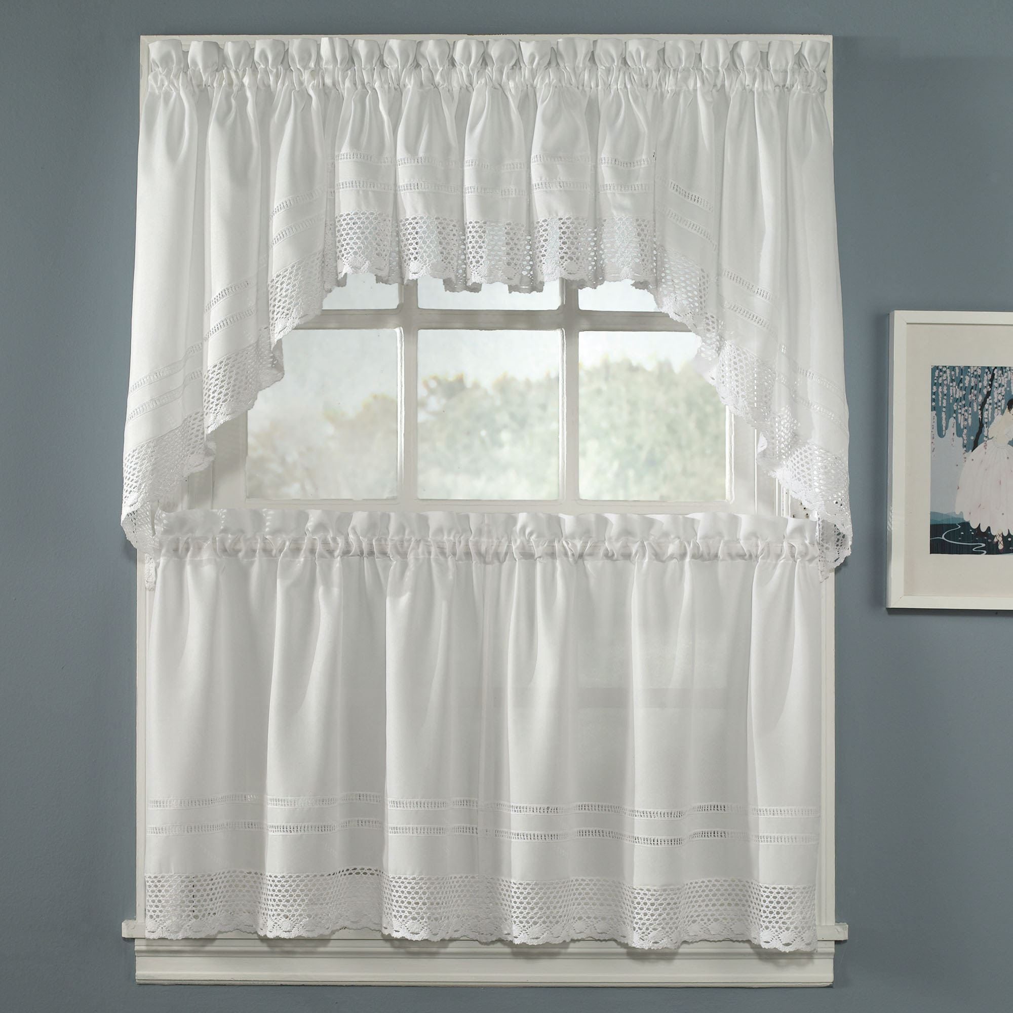 Crochet Tailored Tier Window Treatment
