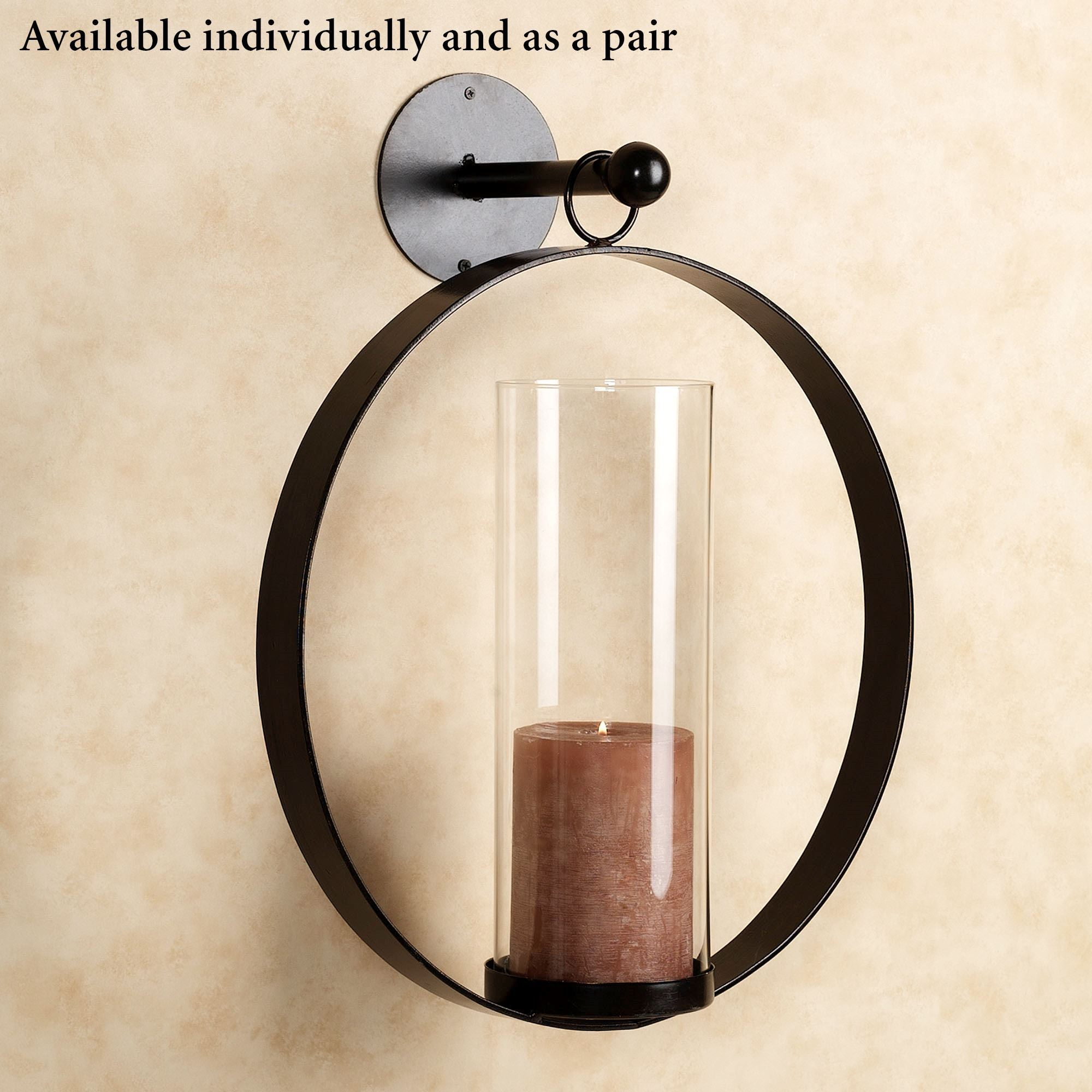 High Quality Hanging Circle Wall Sconce Black. Click To Expand