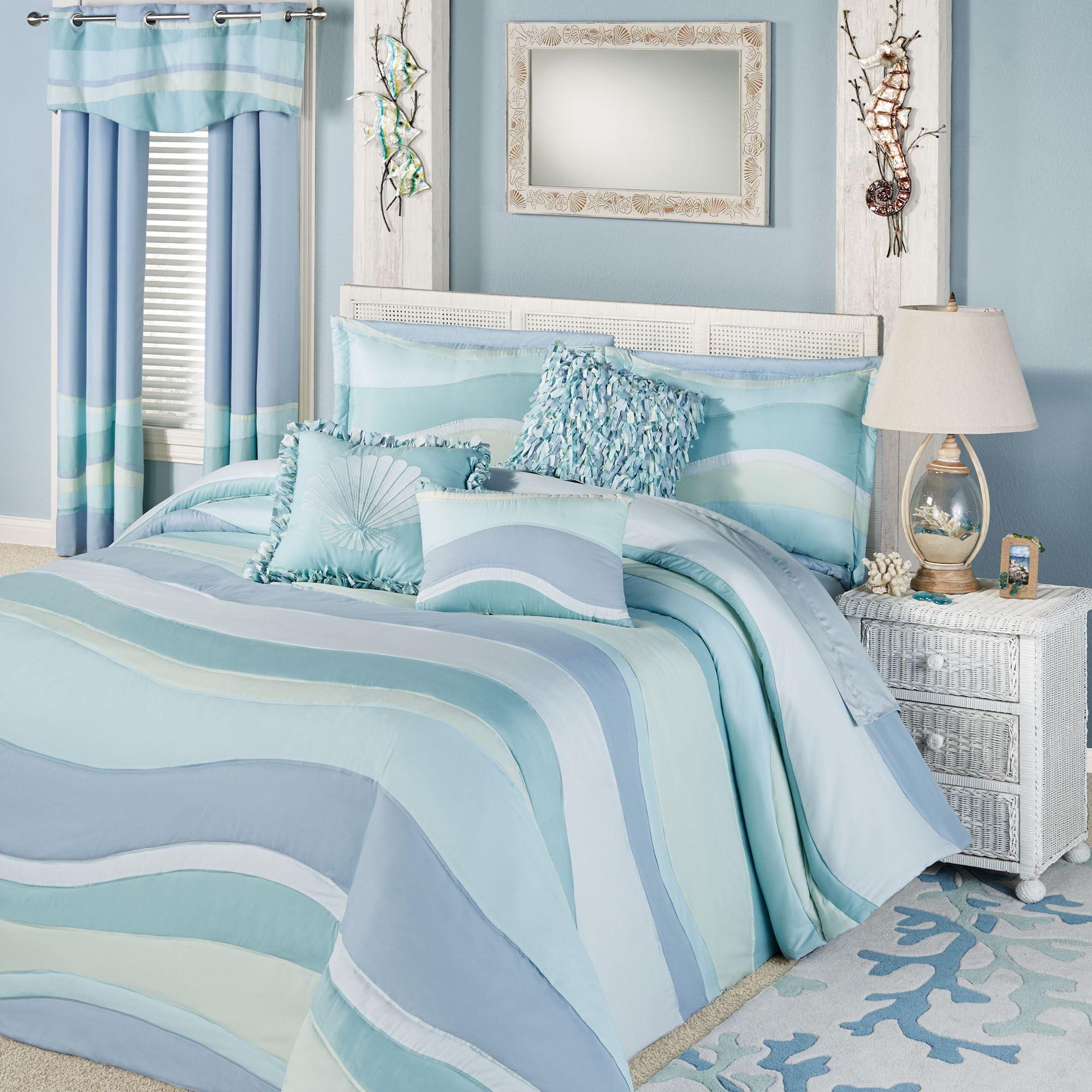 Ocean Tides Lightweight Oversized Coastal Bedspread