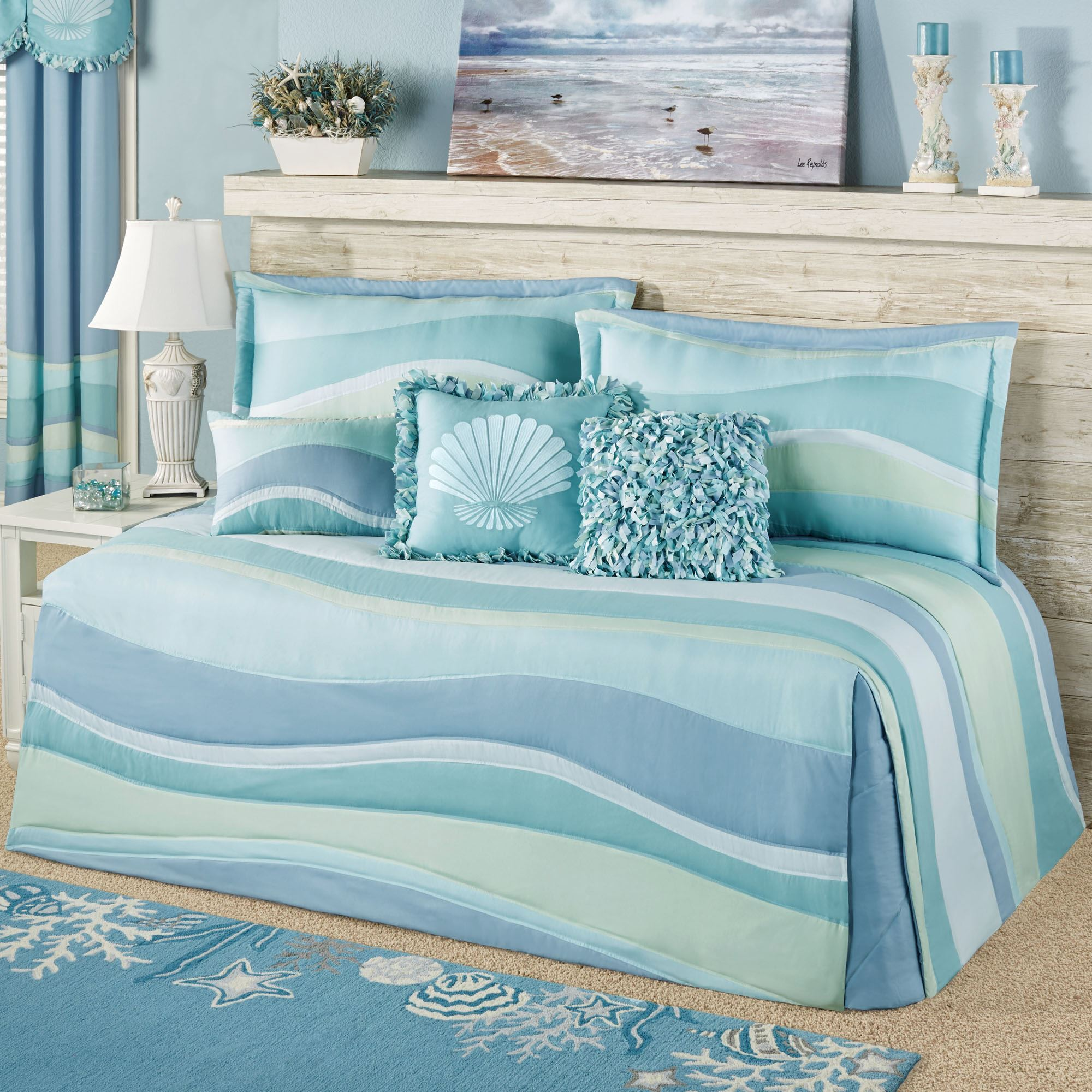 Ocean Tides Coastal Daybed Bedding Set