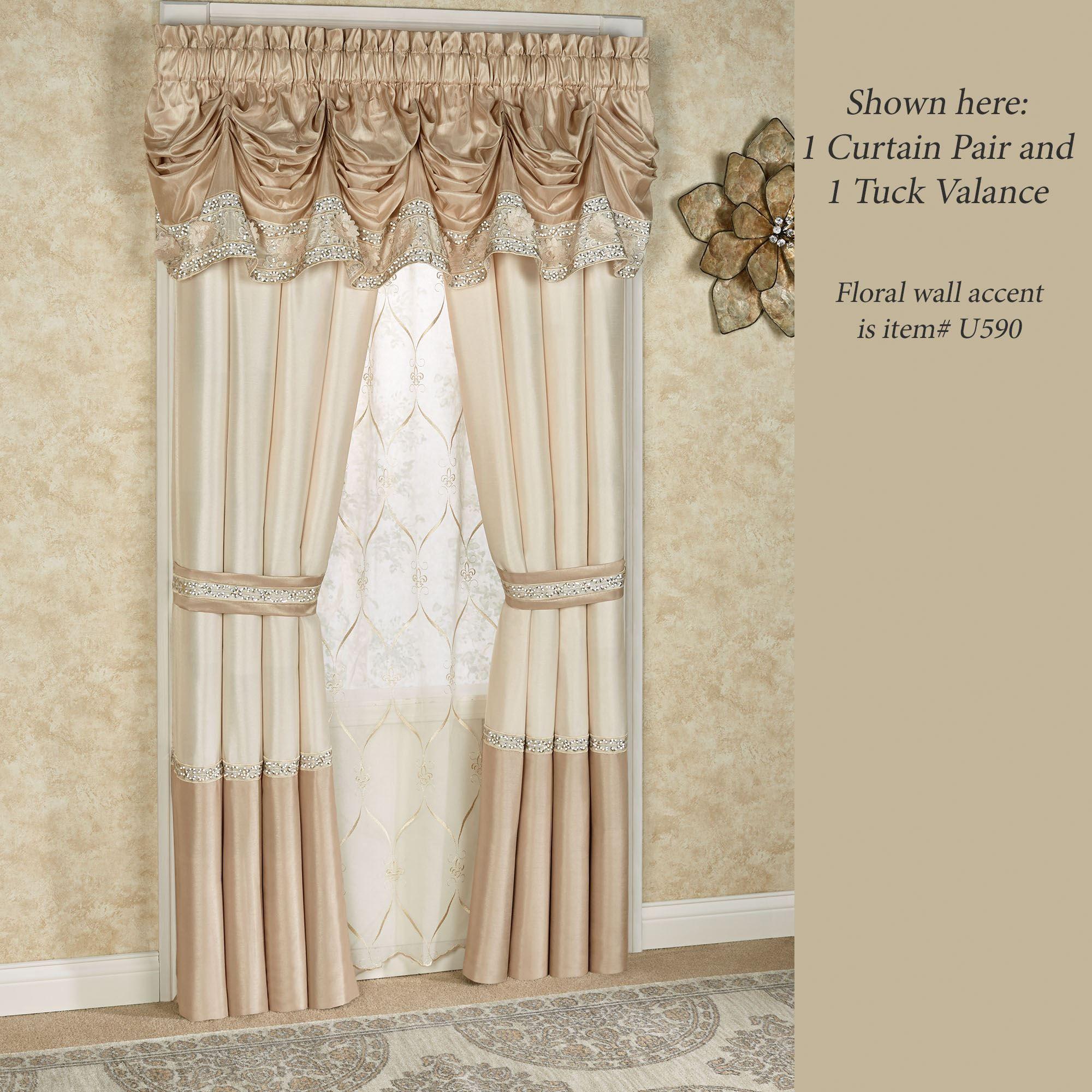 Valance Lighting Kitchen: Elegante Sequined Tuck Valance Window Treatment