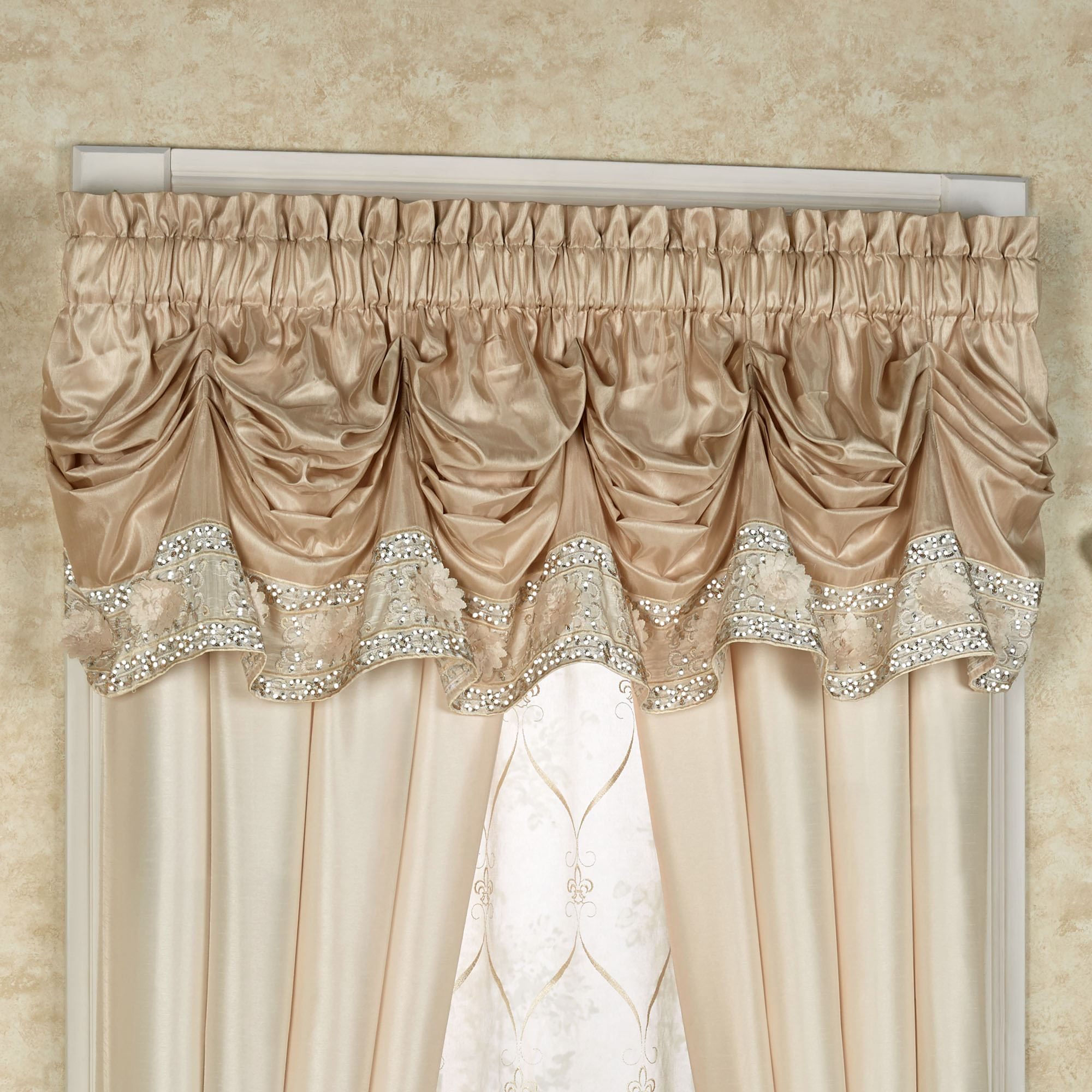 thecurtainshop com swags duchess valance reston window ivory valances toppers