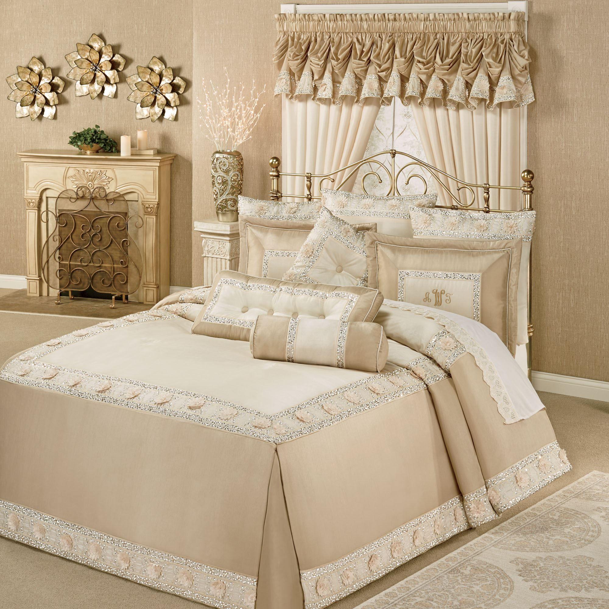 Elegante Faux Silk Luxury Oversized Bedspread Bedding