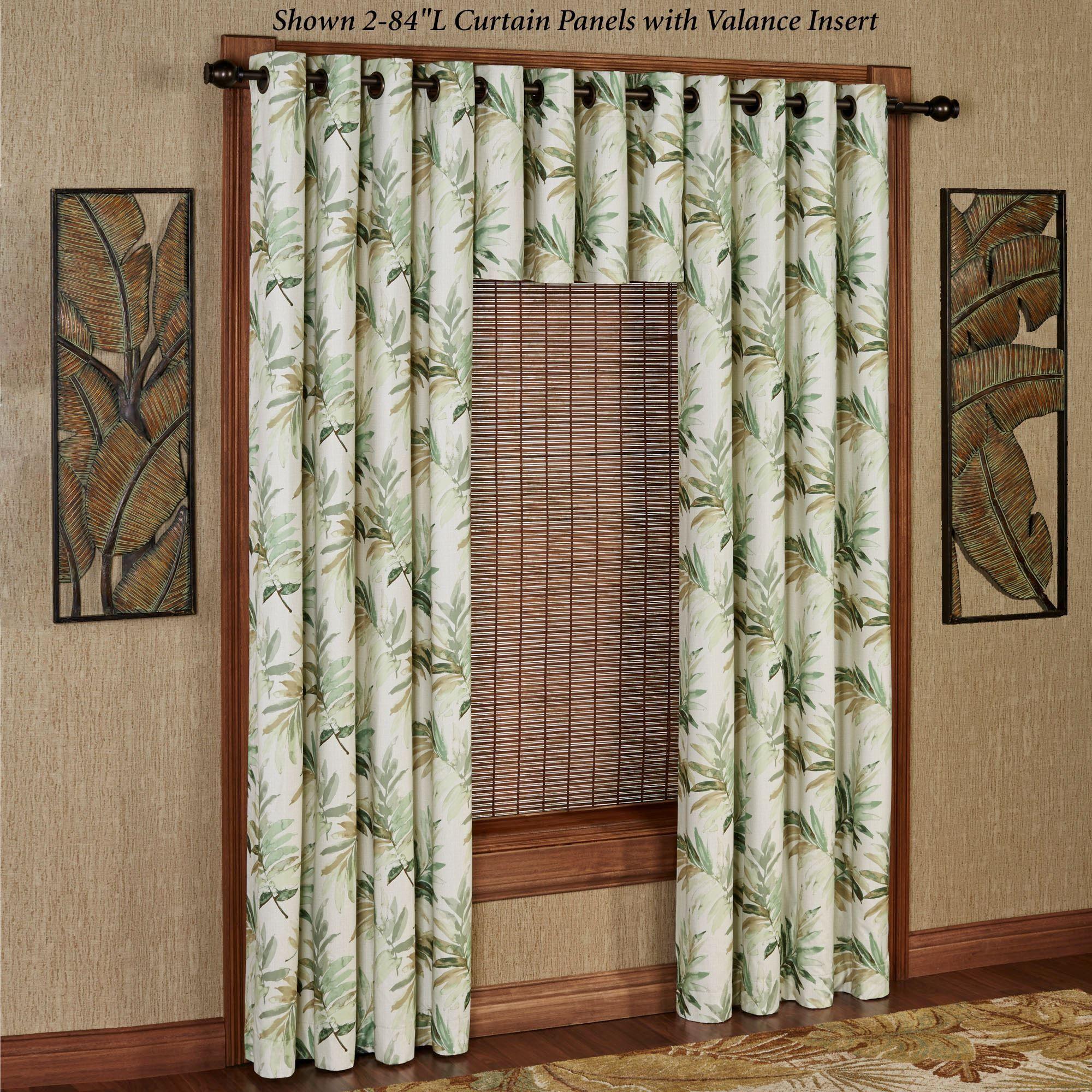 Paradise Leaf Thermal Grommet Curtain Panel