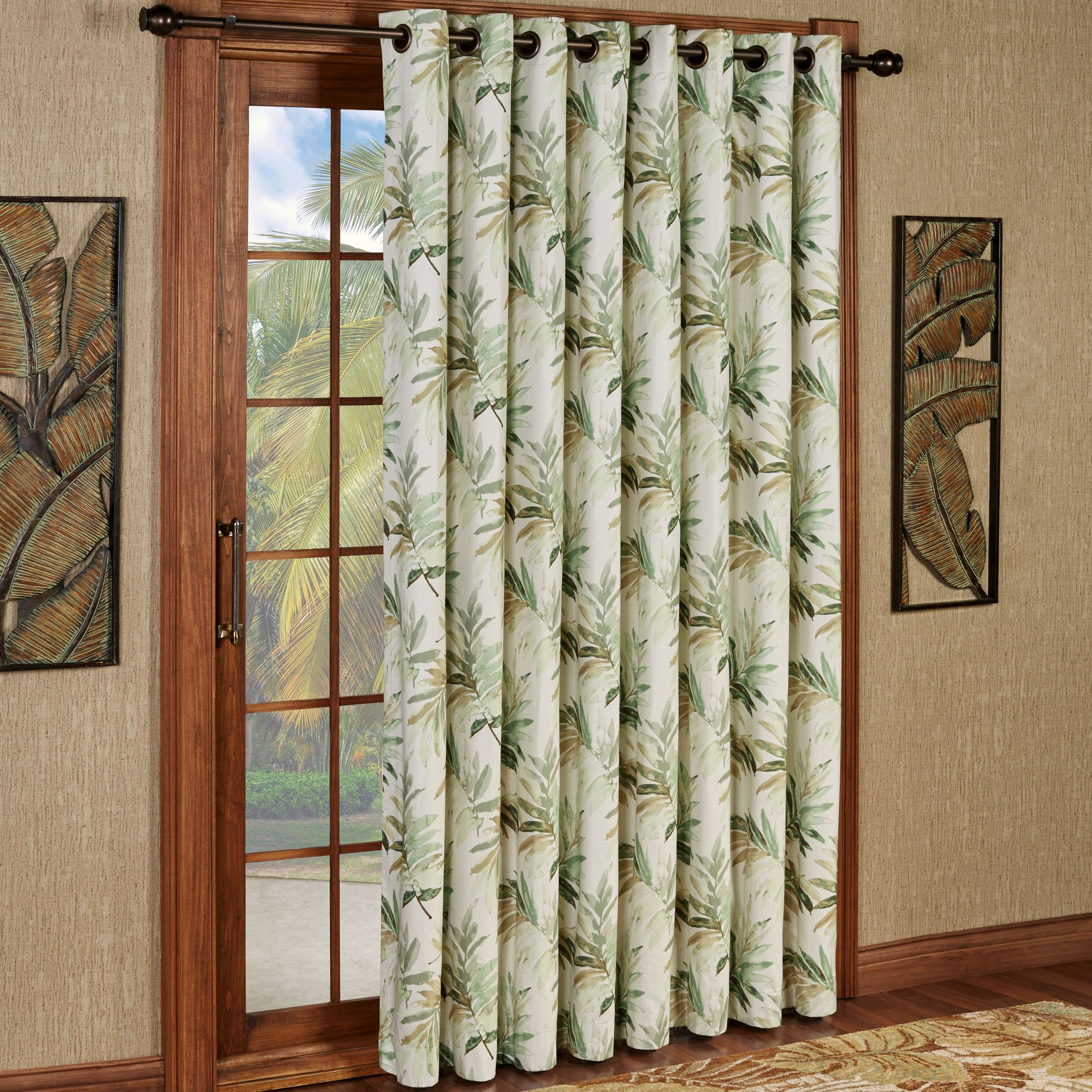 Paradise Leaf Thermal Grommet Patio Panel
