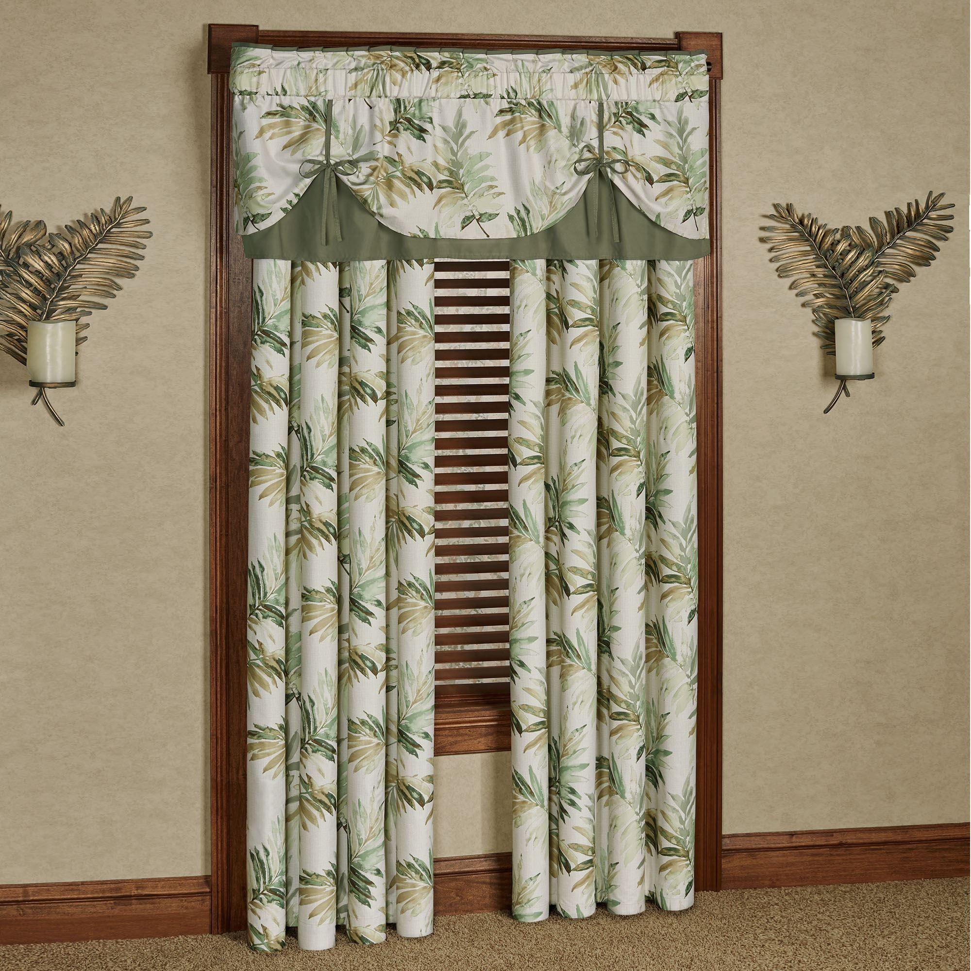 Paradise Leaf Tropical Window Treatment