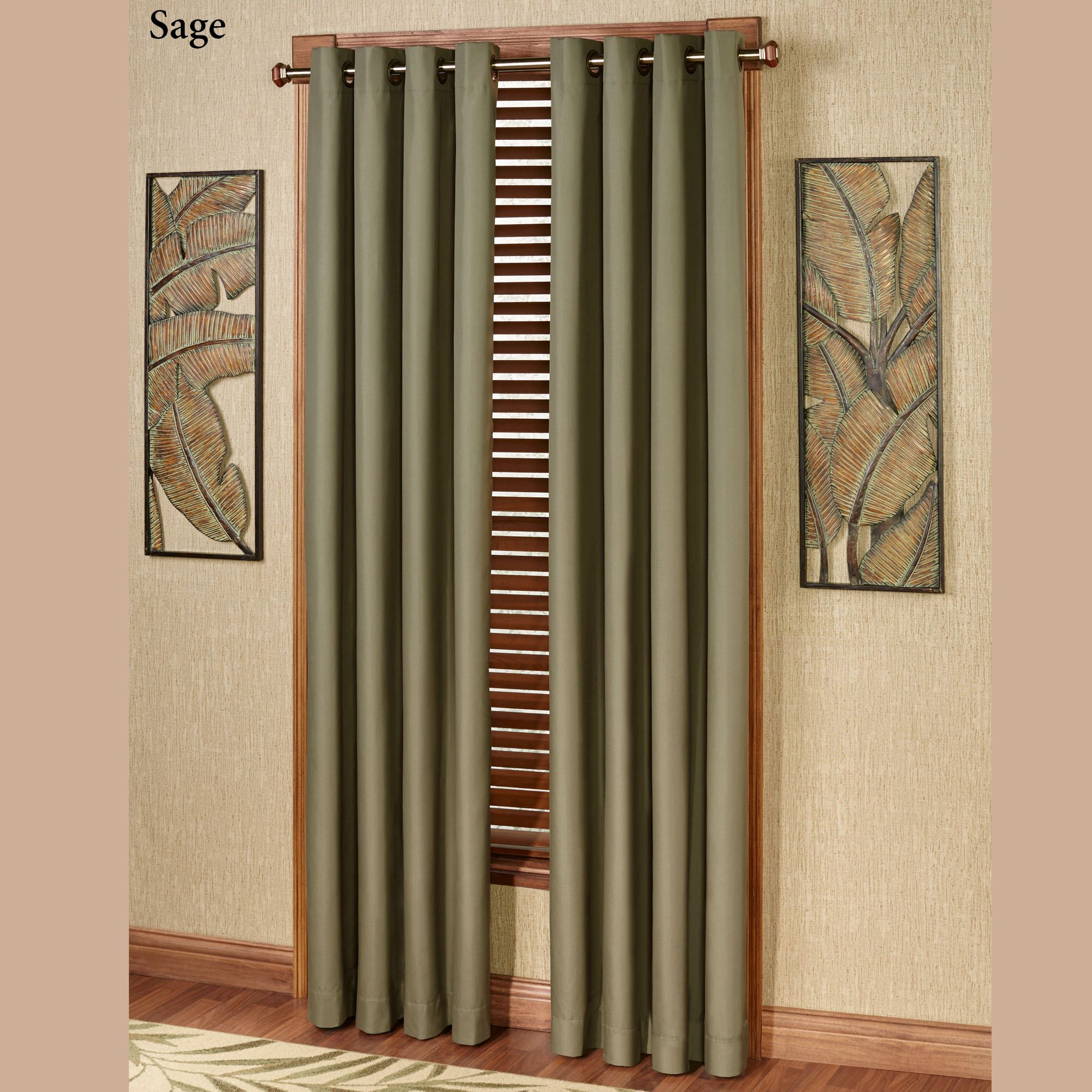 Paramount Solid Color Thermal Grommet Curtain Panel