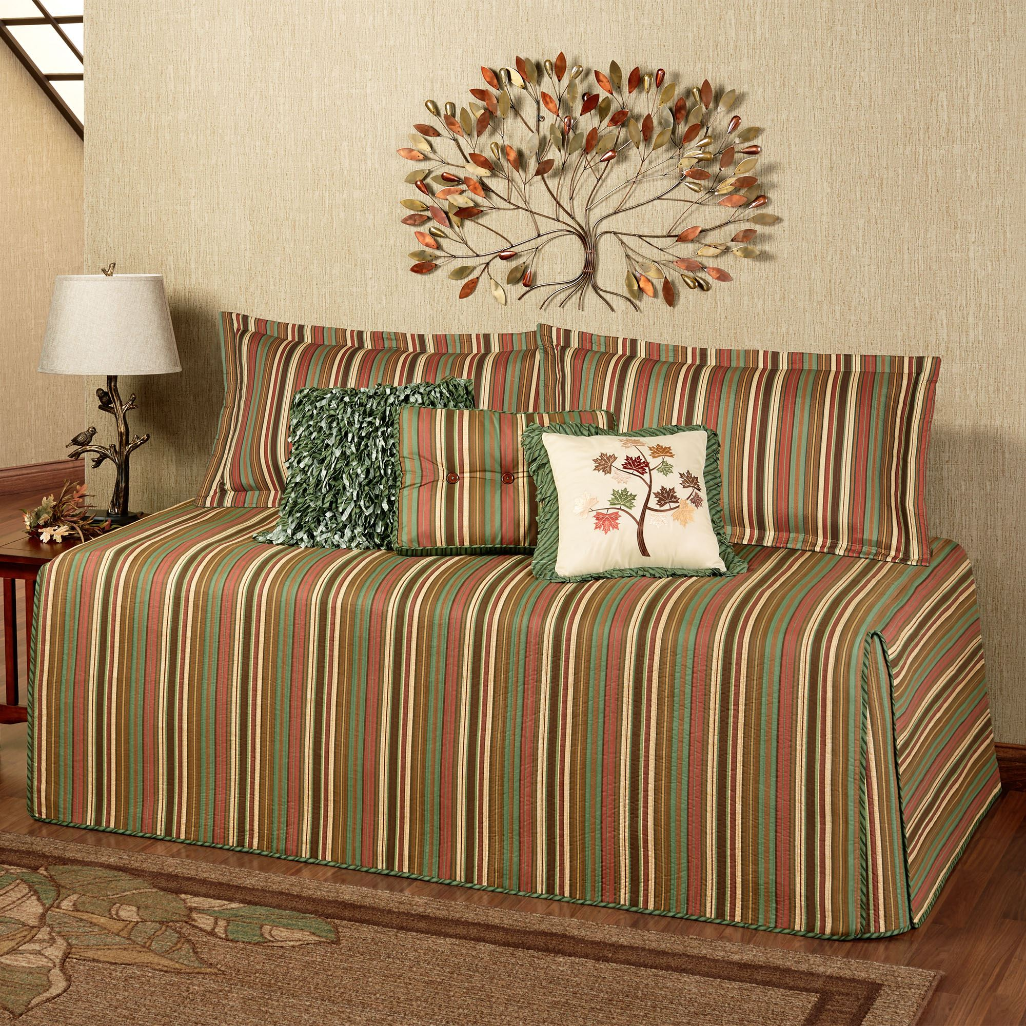 Riverpark Striped Quilted Hollywood Daybed Cover