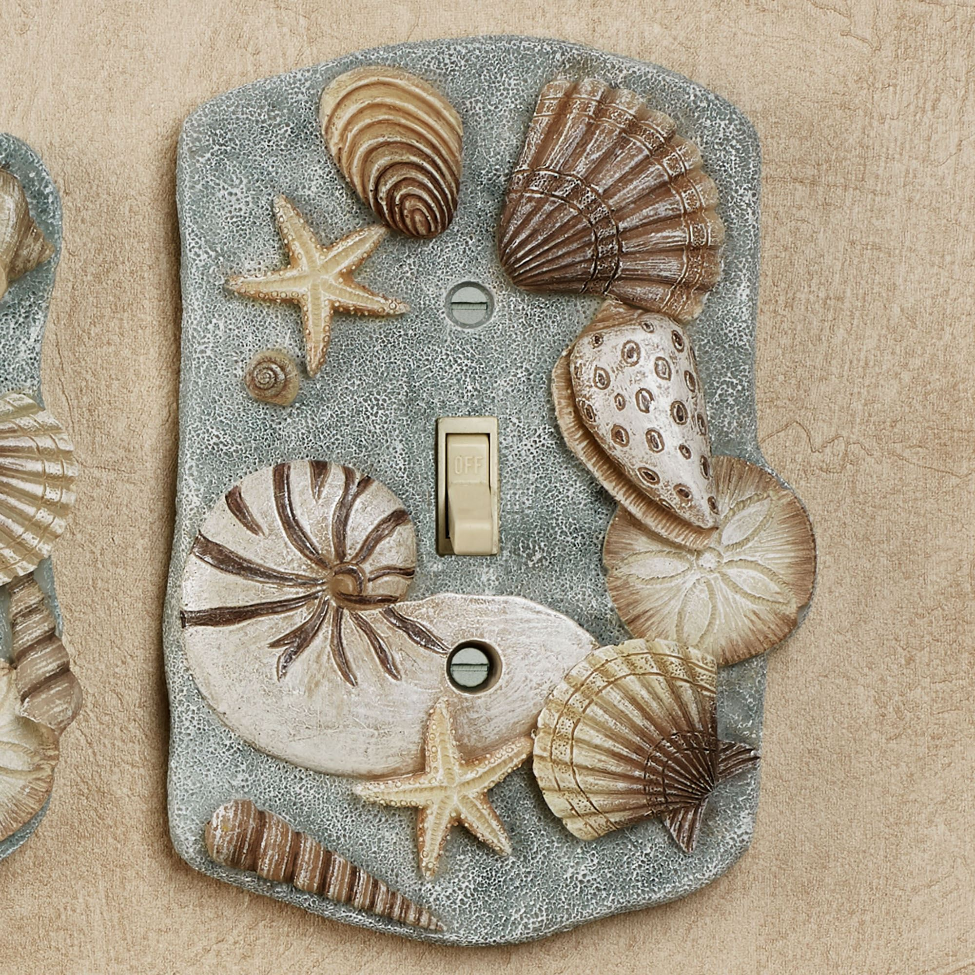 At The Beach Blue Seashell Switchplates