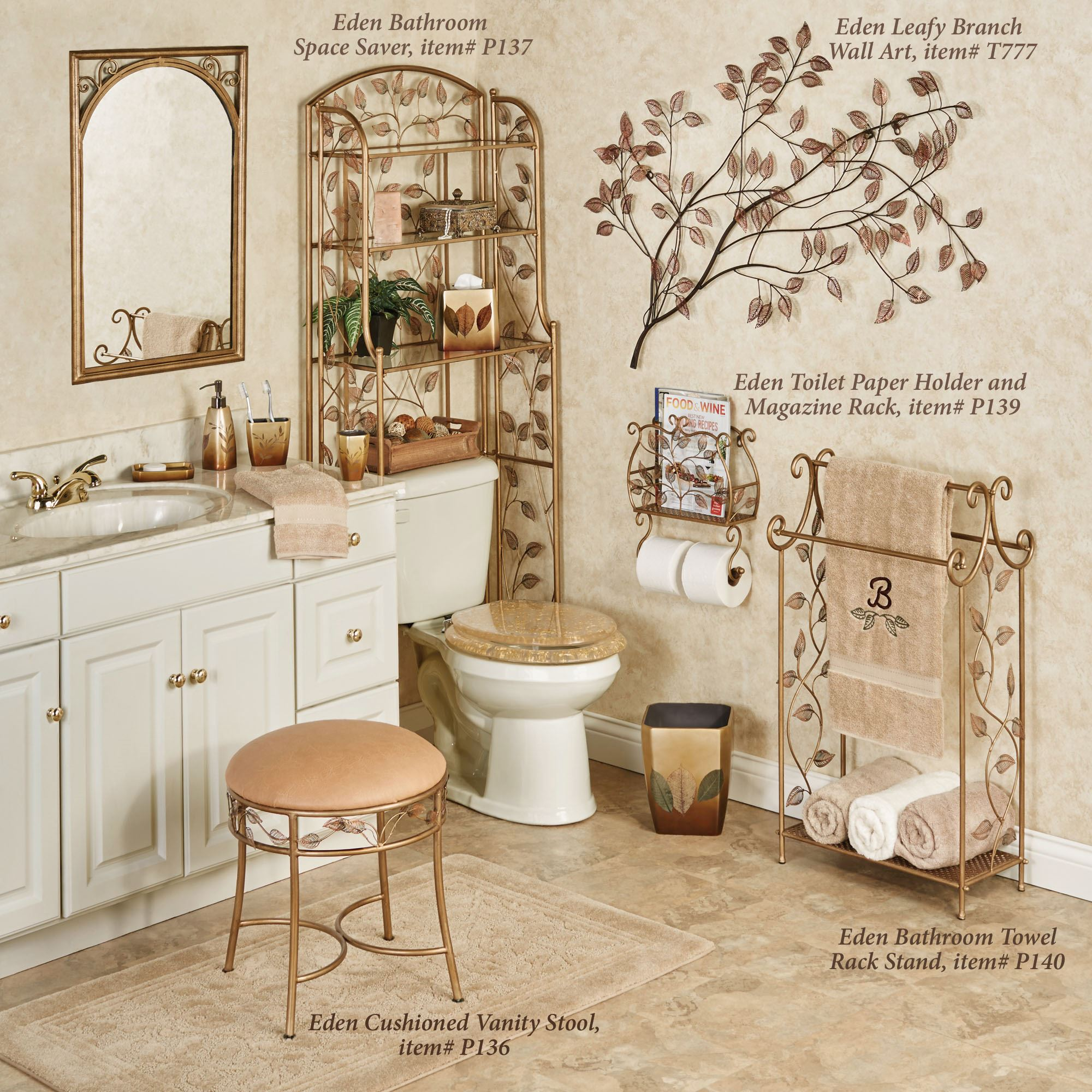 Eden Wall Toilet Paper Holder And Magazine Rack