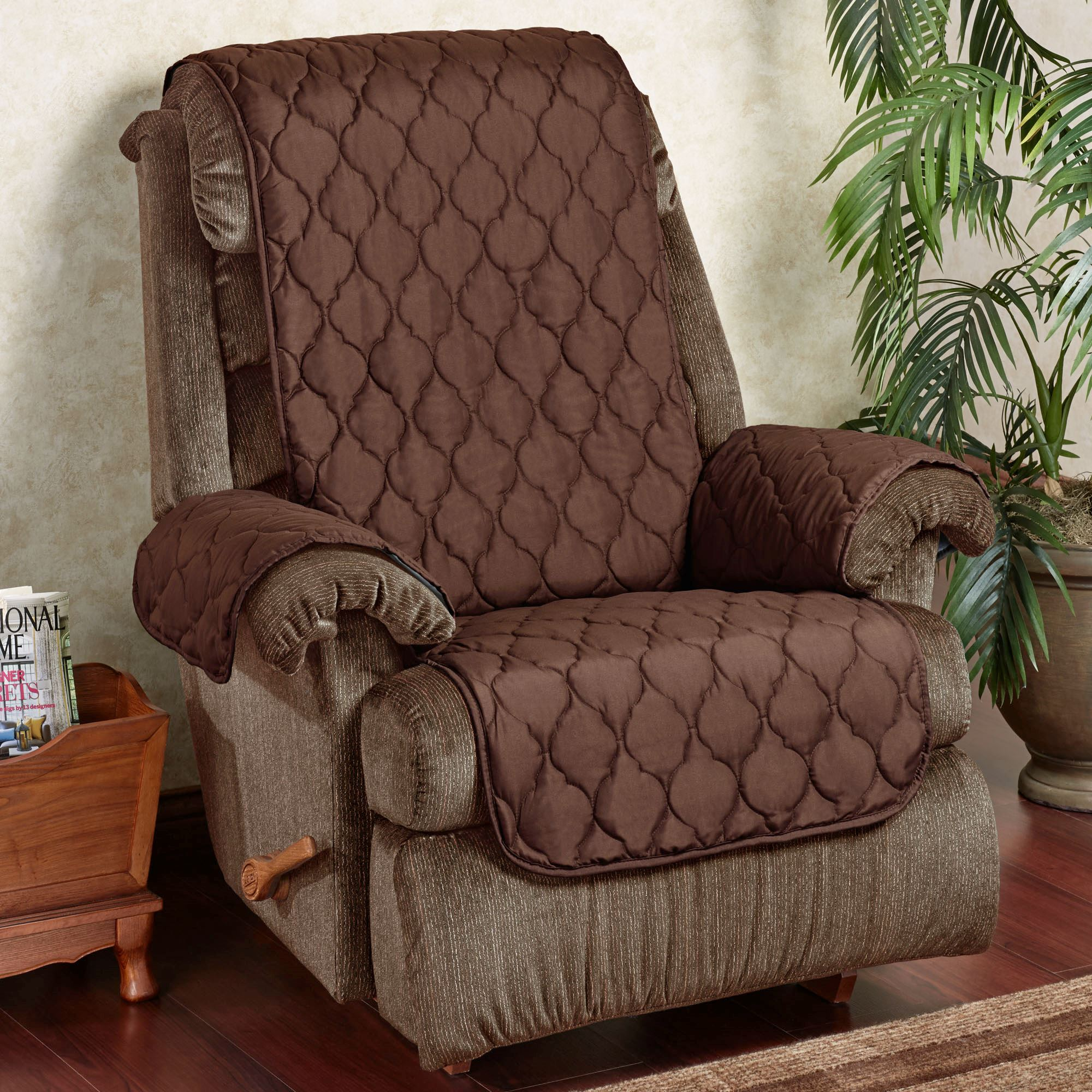 Paradise Solid Color Furniture Protector Recliner/Wing Chair