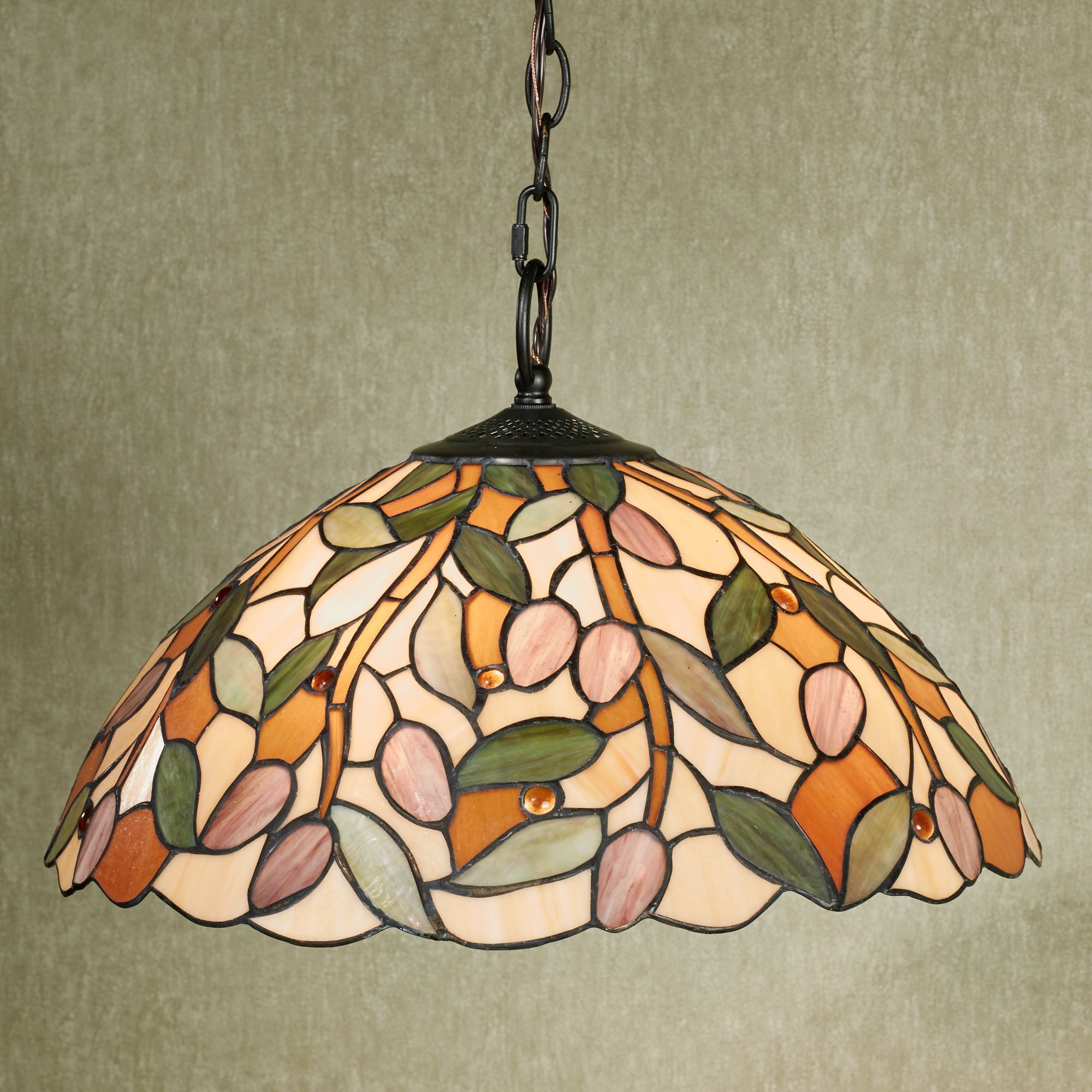 Stained Glass Hanging Lamp.Pascal Stained Glass Hanging Lamp