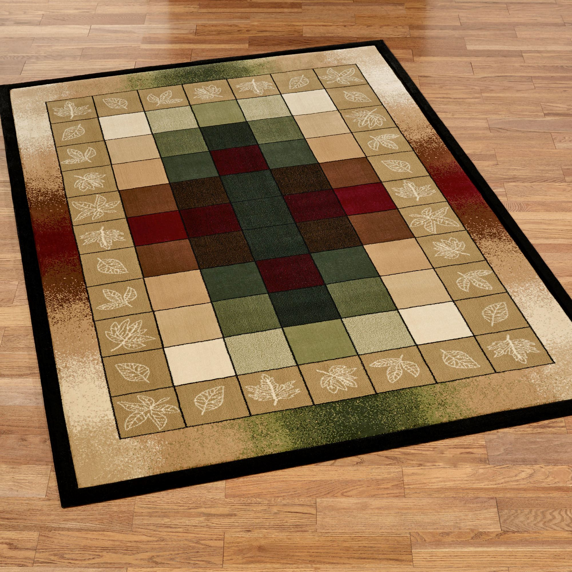 Autumn Crest Multicolored Block Area Rugs