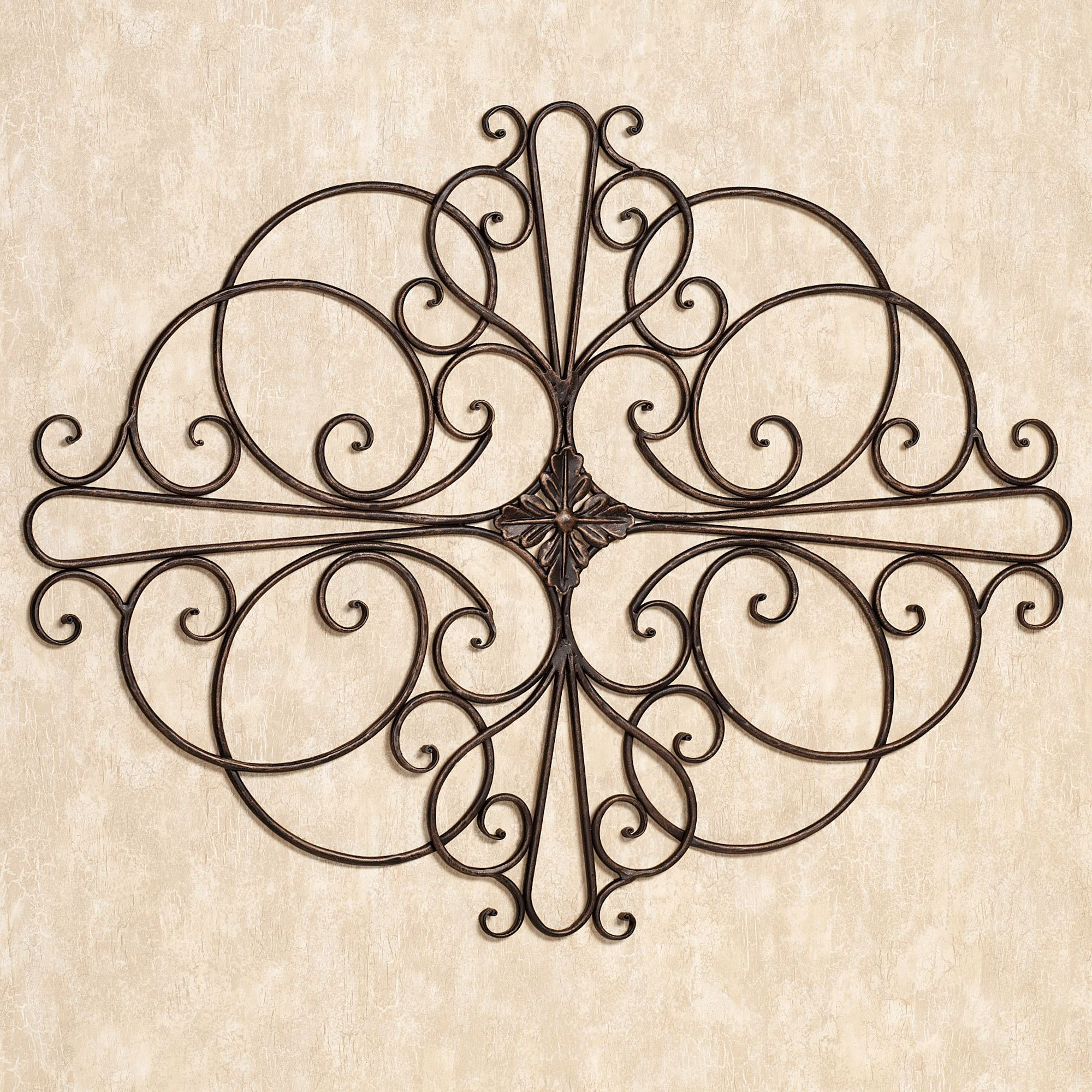 Ornamental Iron Wall Decor Prepossessing Savino Indoor Outdoor Wrought Iron Wall Grille Review