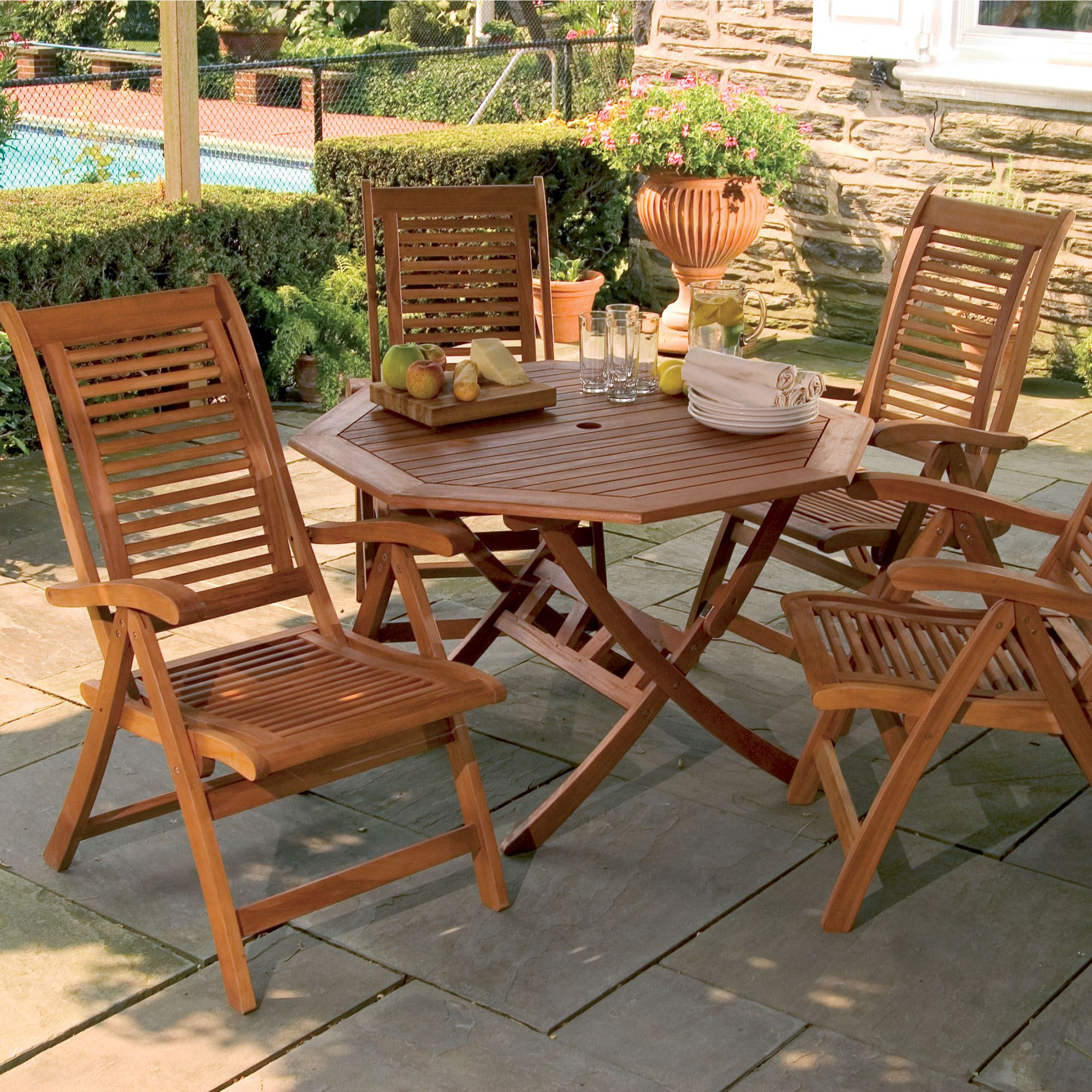 Lanai Shorea Wood Outdoor Dining Set
