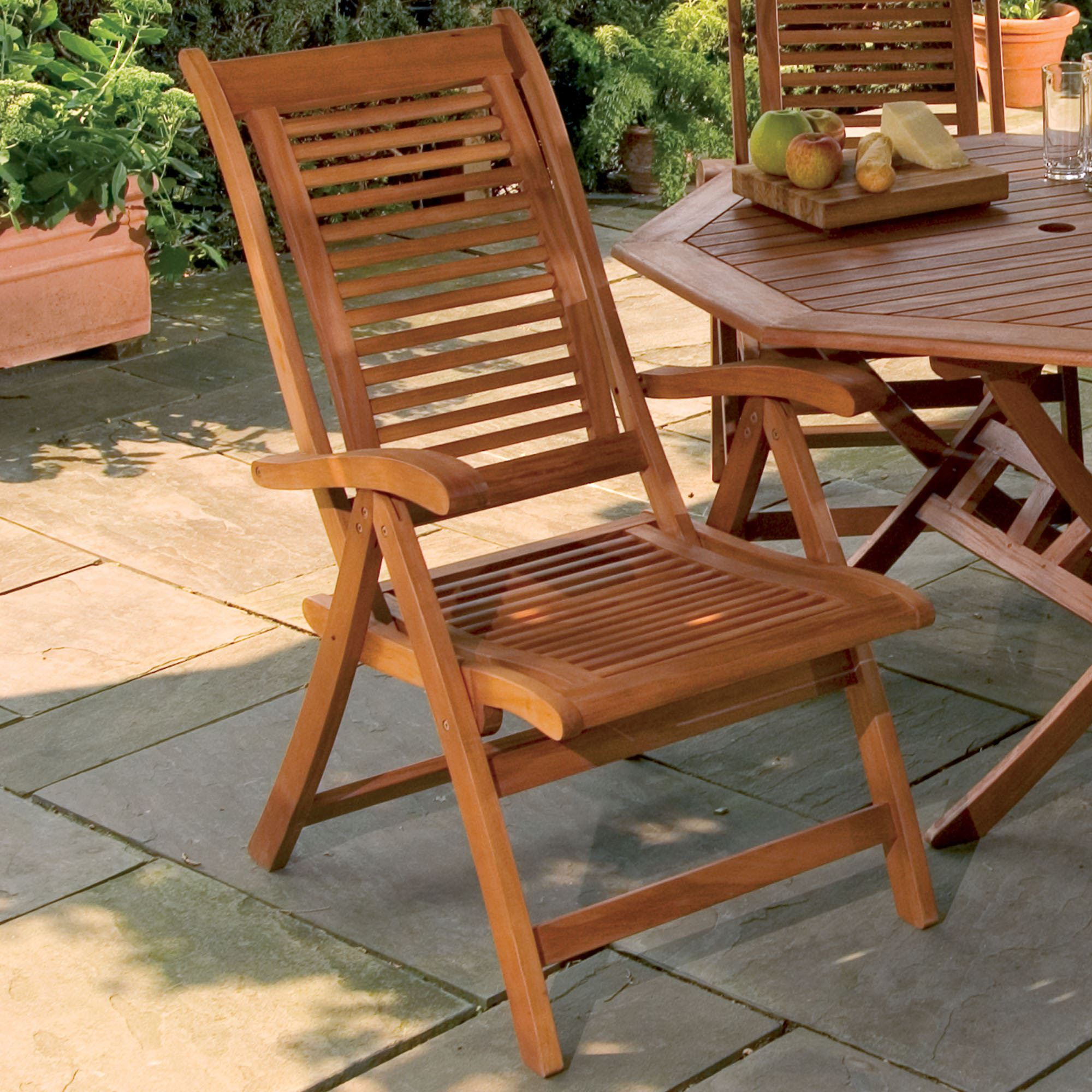 Lanai Shorea Wood Adjustable Patio Chair