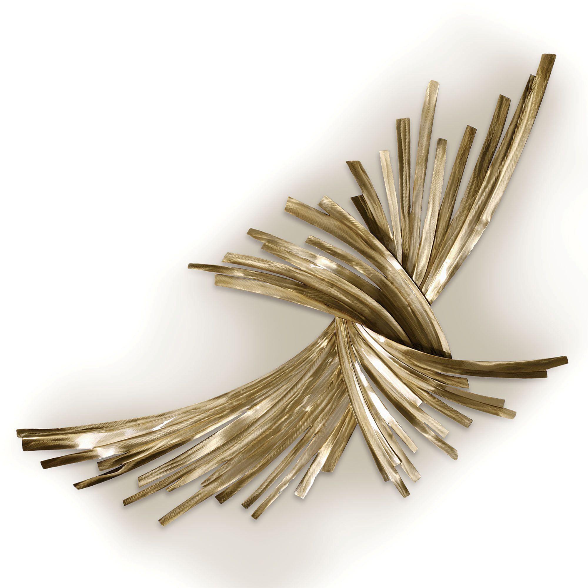 Infinity gold metal wall sculpture - Sculpture exterieure metal ...