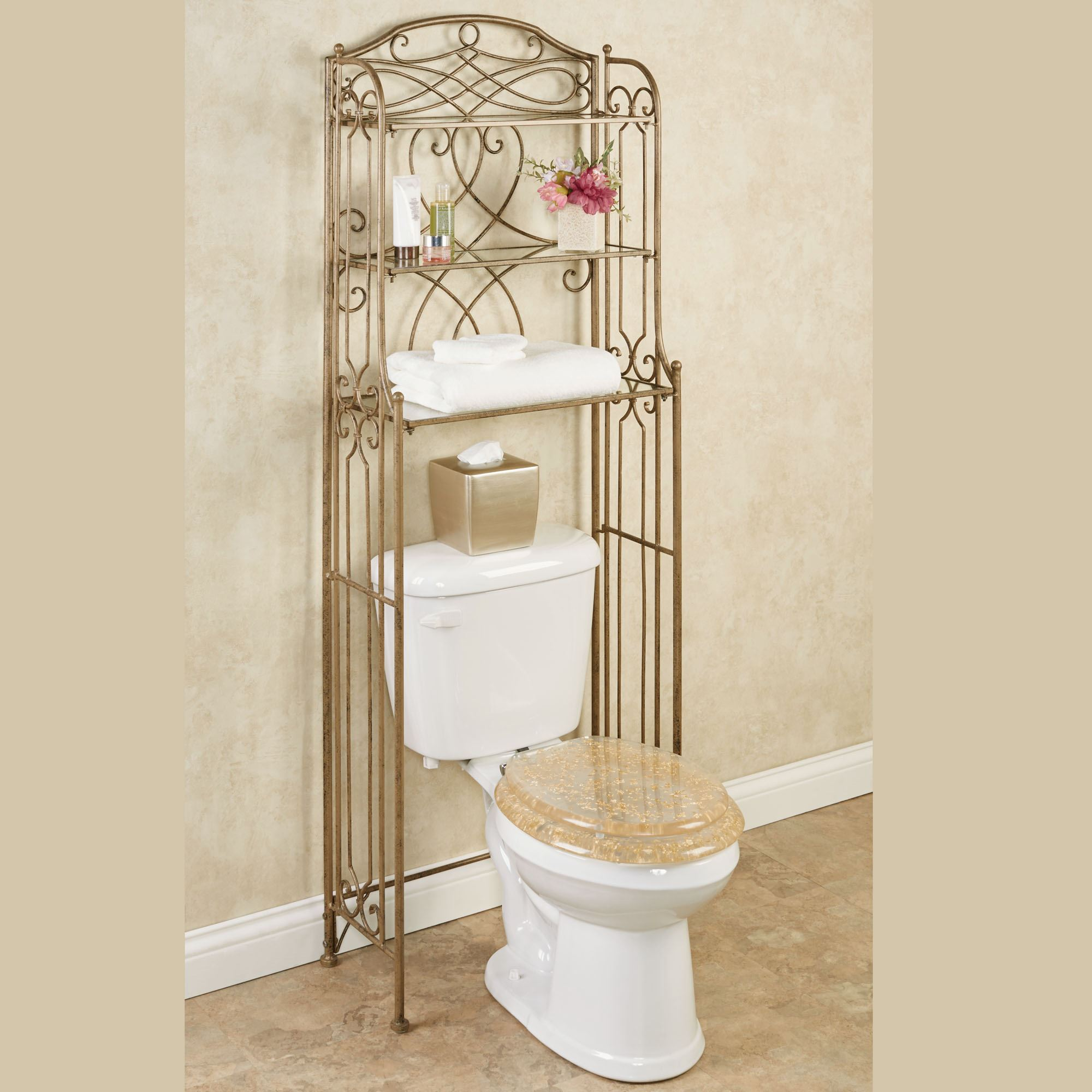 Abbianna Bathroom Space Saver Antique Gold. Touch To Zoom