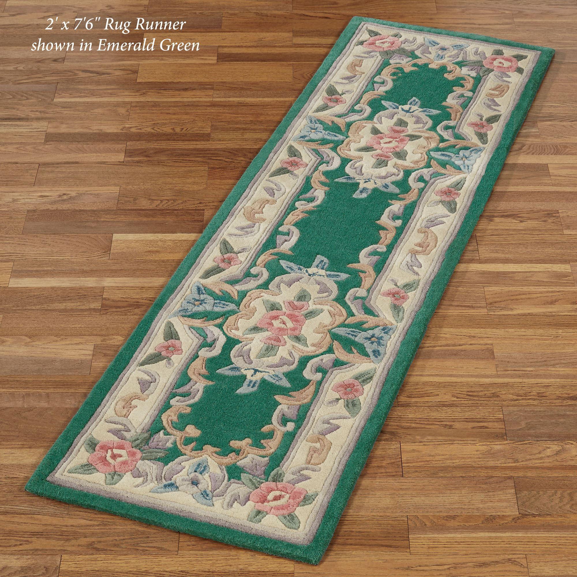 Serena Aubusson Ii Floral Wool Hallway Rug Runners