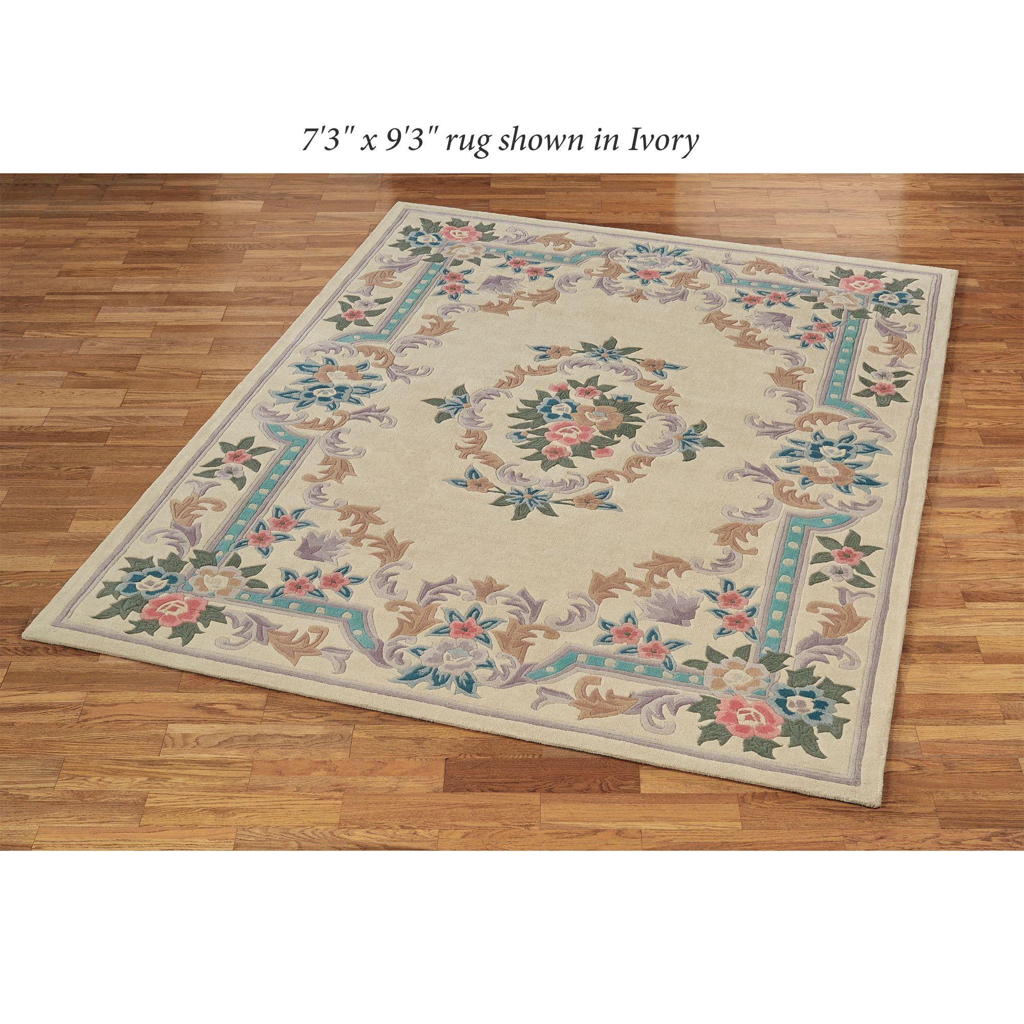 "Casa Zeta Jones Aubusson 2/'2/"" x 7/' Runner Area Rug Grey QVC Spring Home Decor"