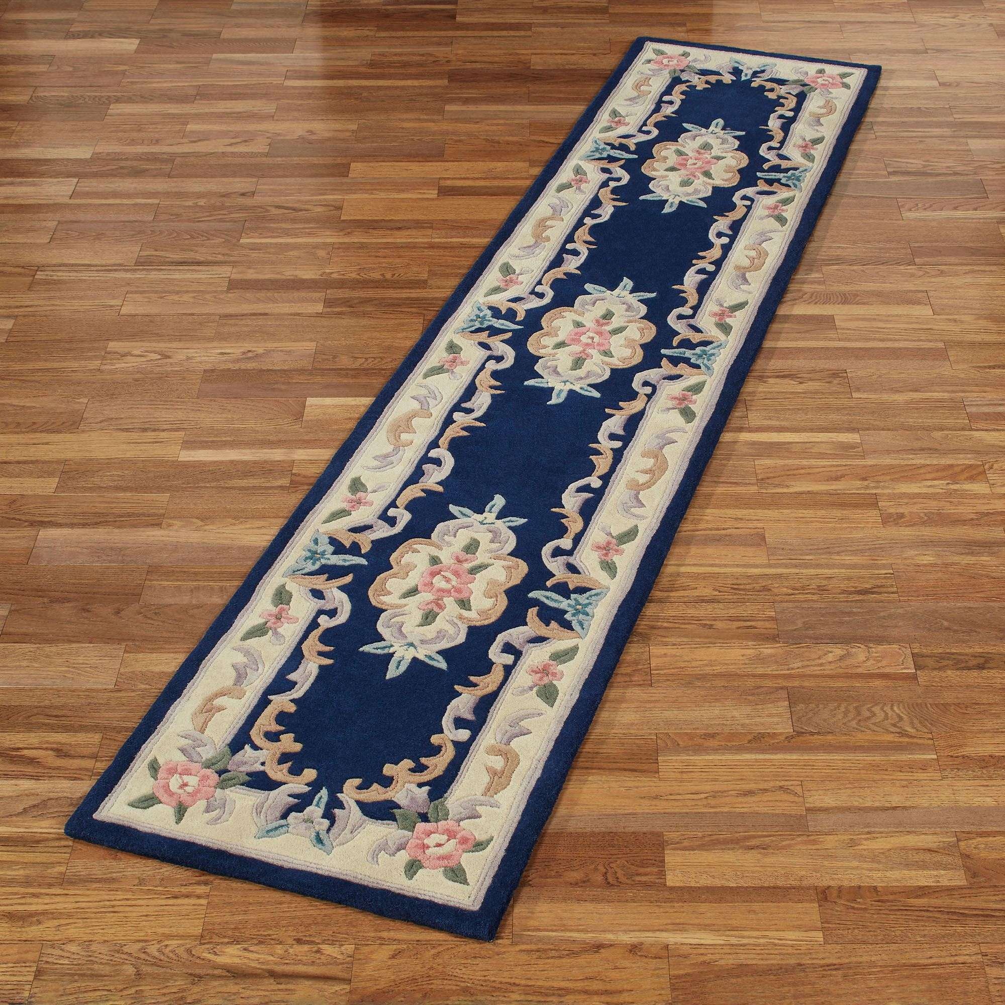 Serena Aubusson Ii Floral Wool Oval Rugs