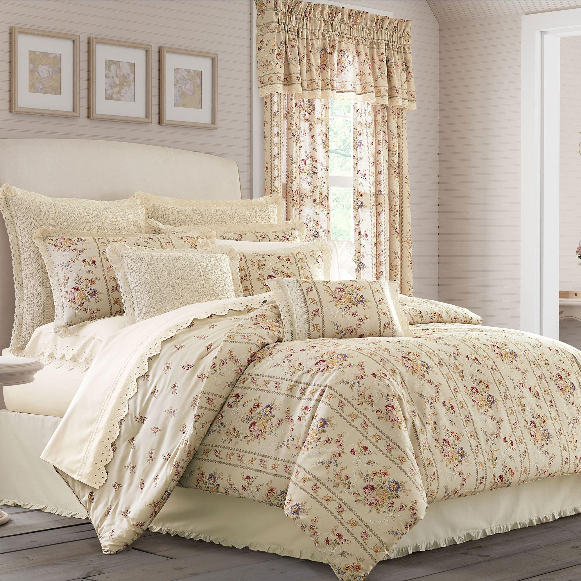 Sadie Reversible Vintage Floral Comforter Bedding By Piper