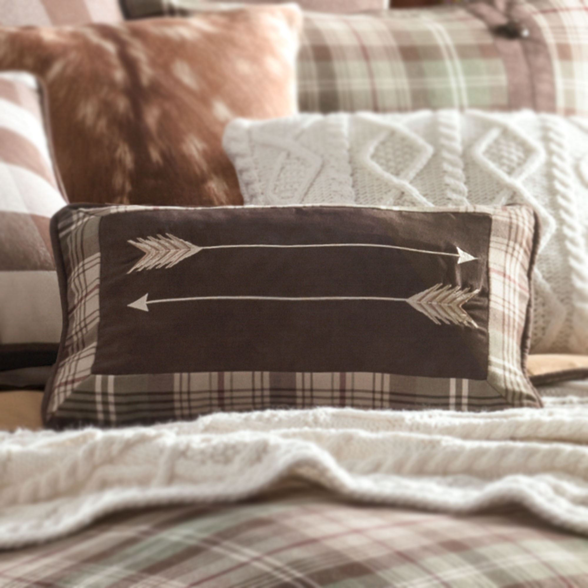 Huntsman Rustic Tartan Plaid Comforter Bedding By Mossy Oak