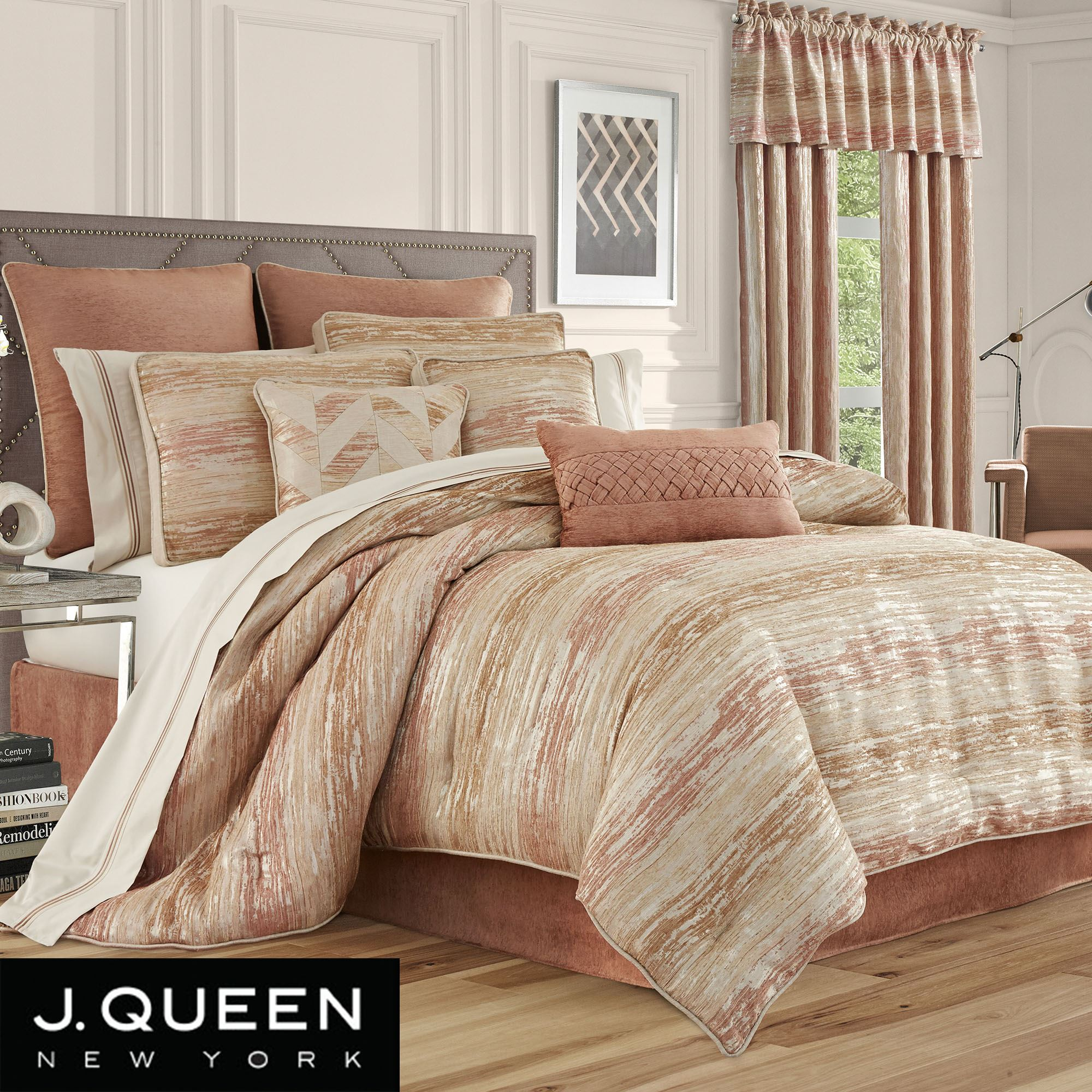 Sunrise Coral Comforter Bedding By J Queen New York
