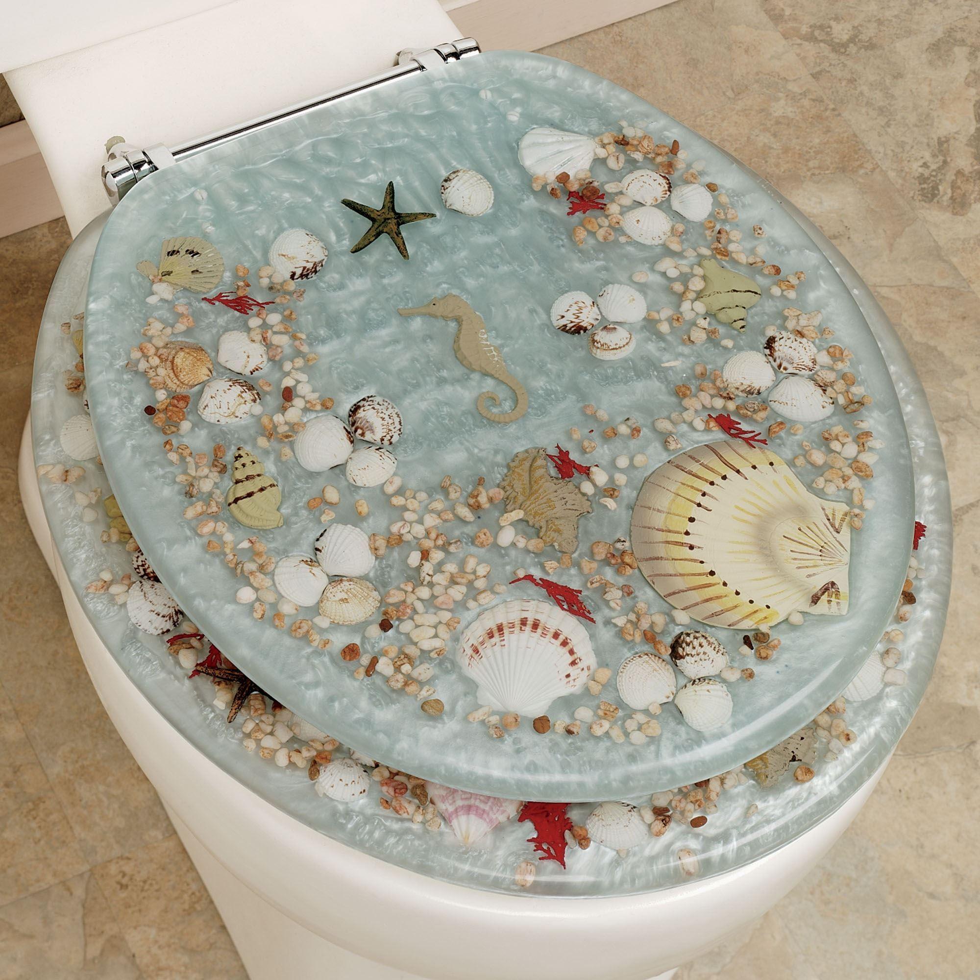 Jewel Shell Toilet Seat