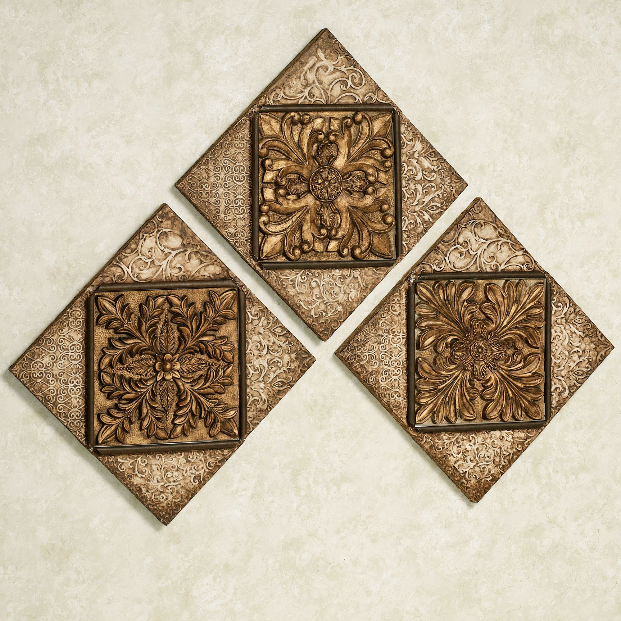 Touch to zoom & Abrielle Dynasty Metal Wall Plaque Set