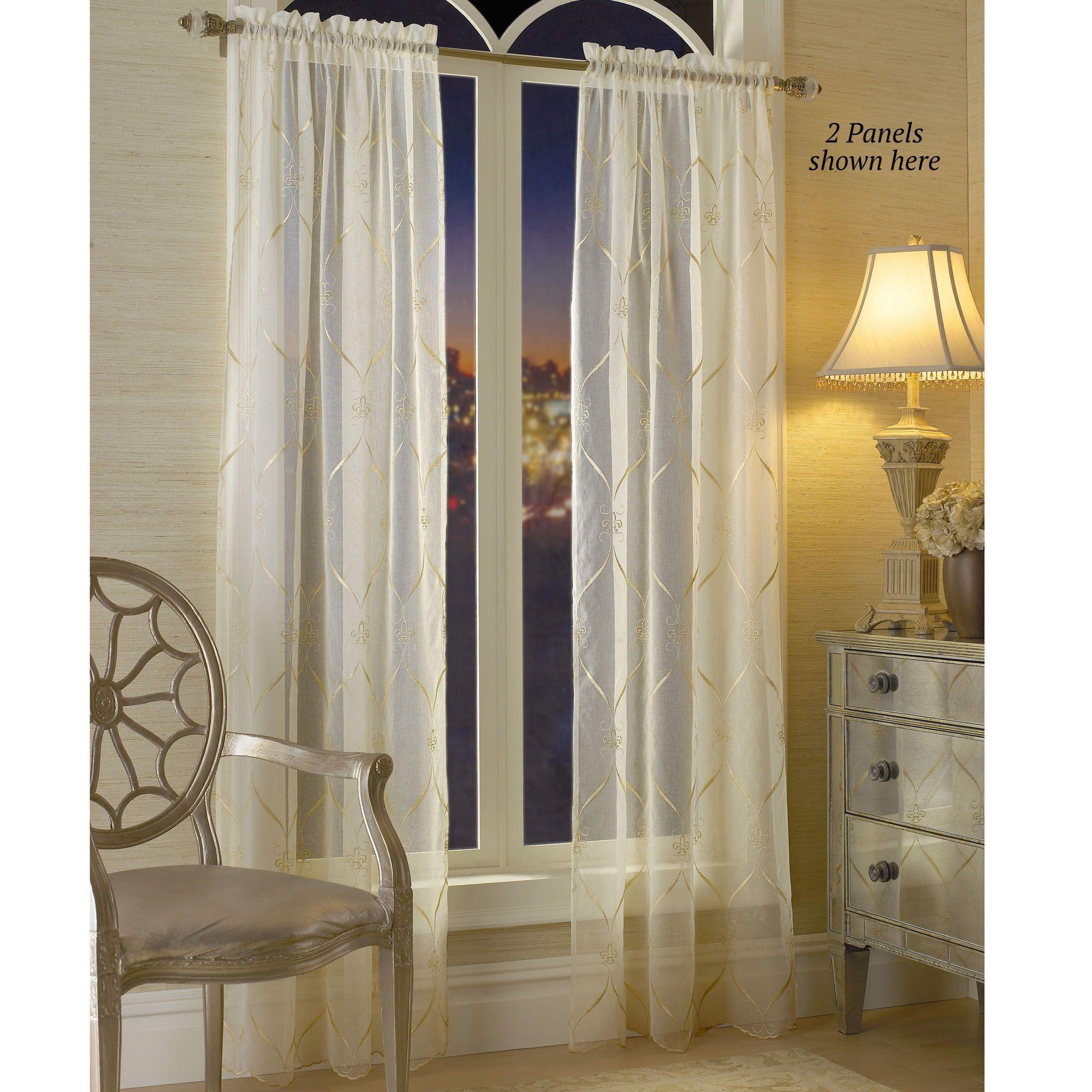 Cavalier Fleur De Lis Sheer Window Treatment By Croscill