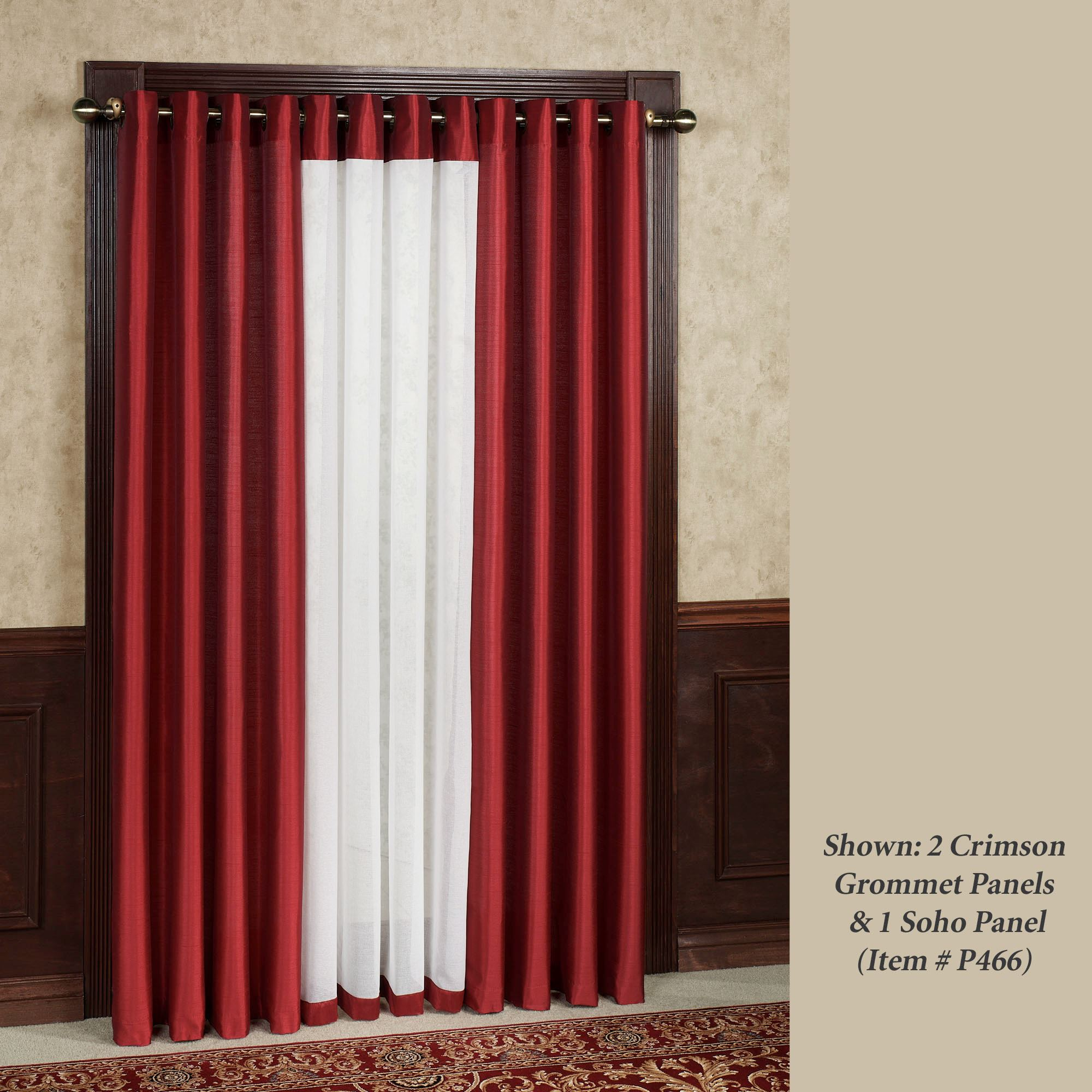 Red Canvas Curtain Panels - Curtain Ideas