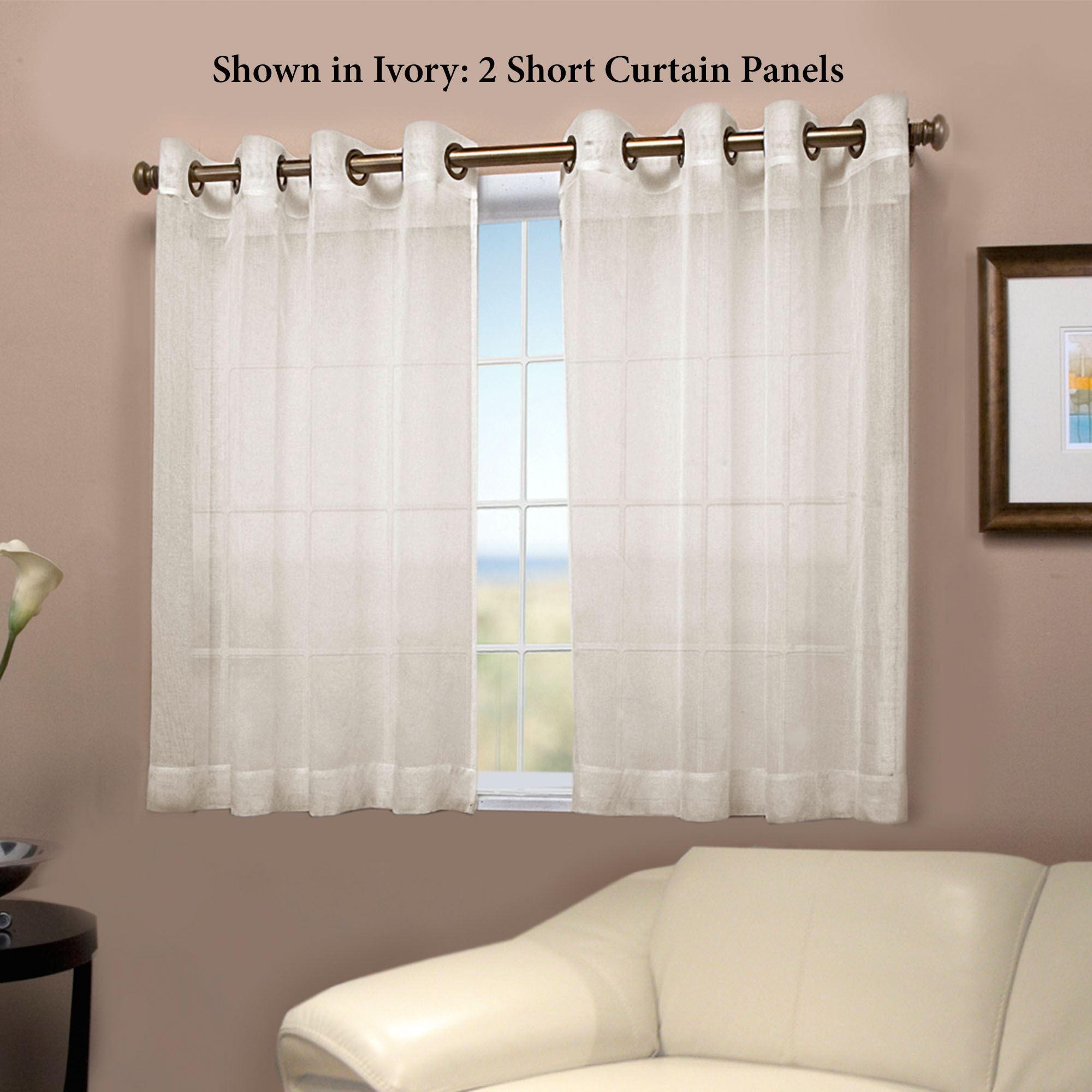 Bal Harbour Semi Sheer Short Grommet Curtain Panel