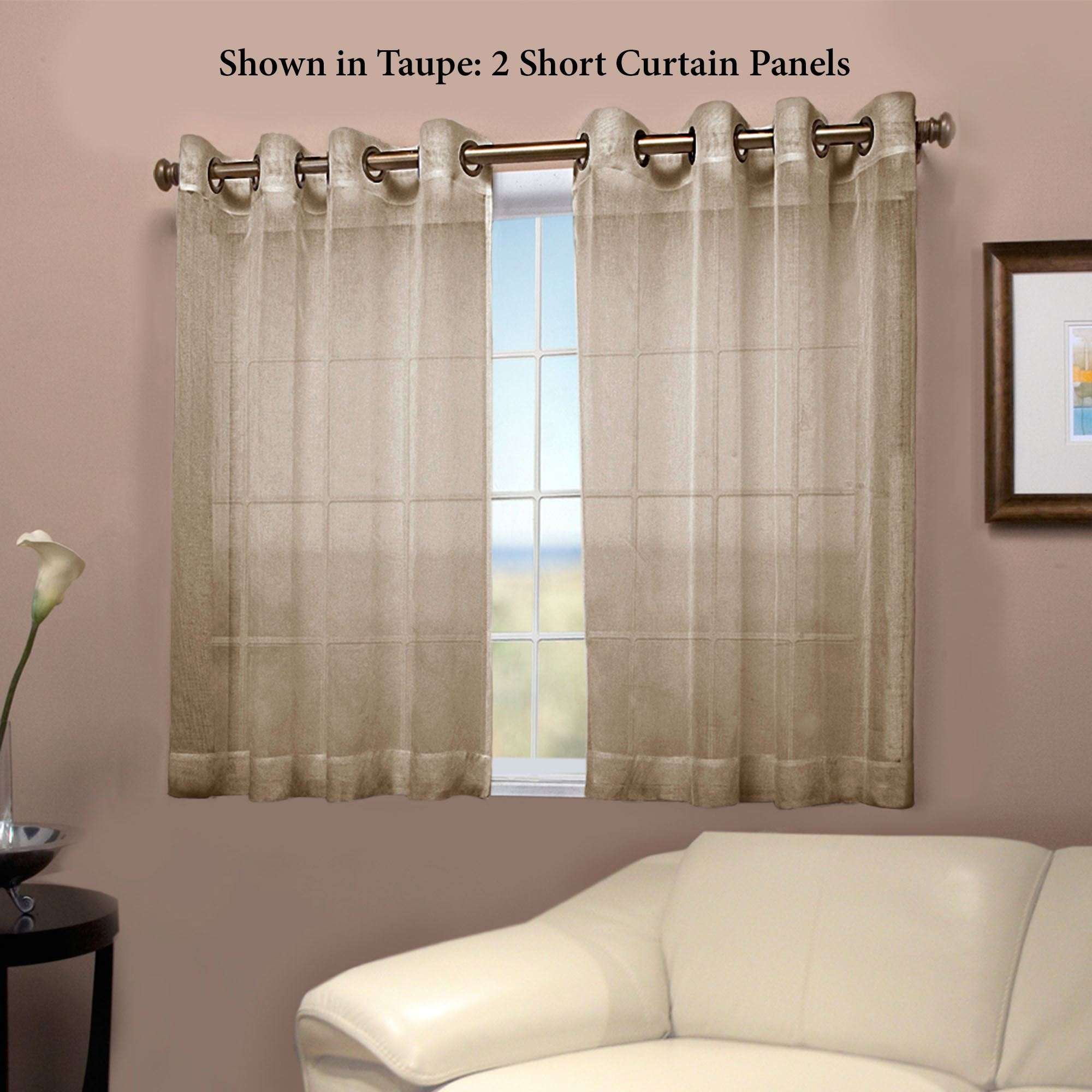 Bal Harbour Semi Sheer Short Grommet Curtain Panel