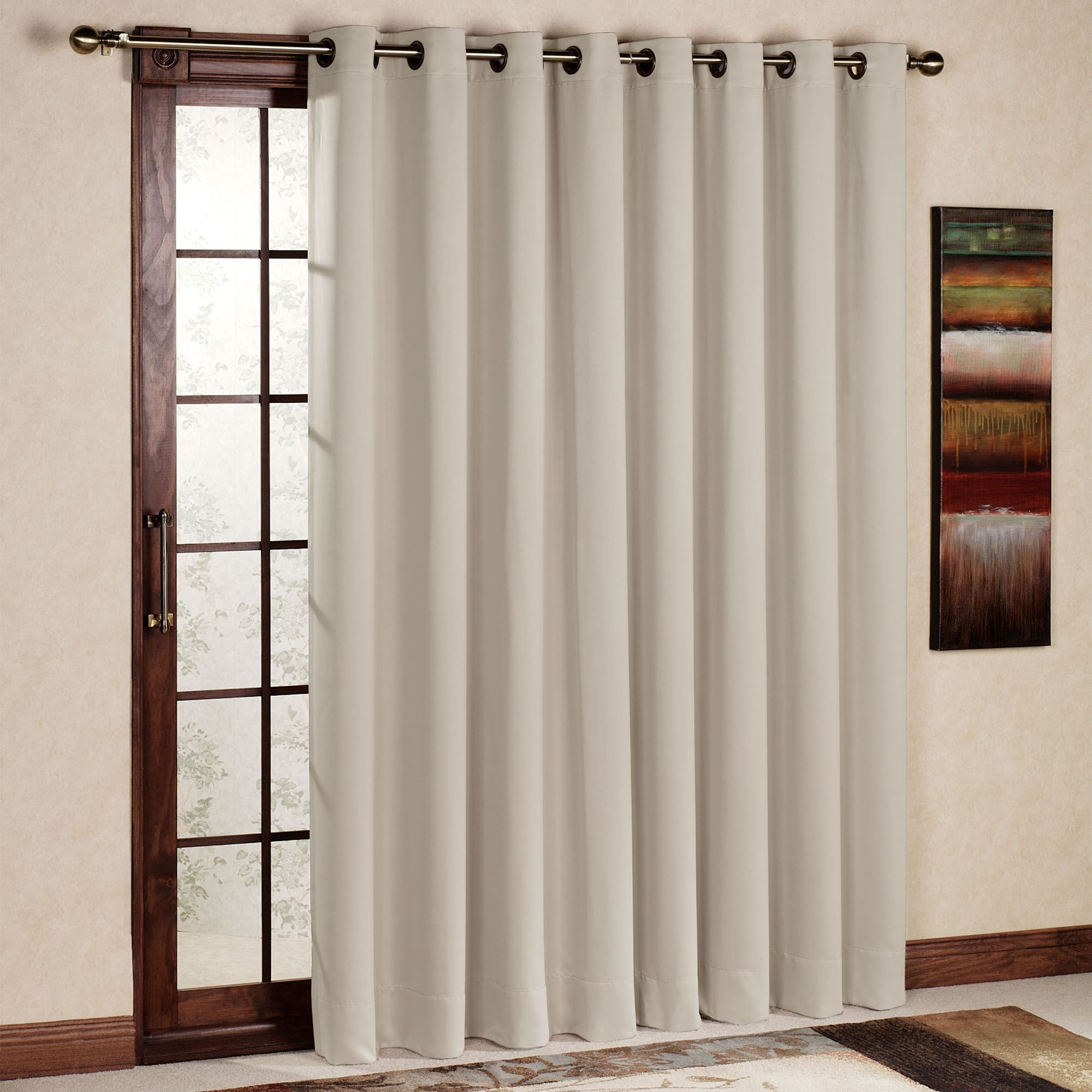 Patio door curtain panels touch of class ultimate blackout grommet patio panel planetlyrics Images