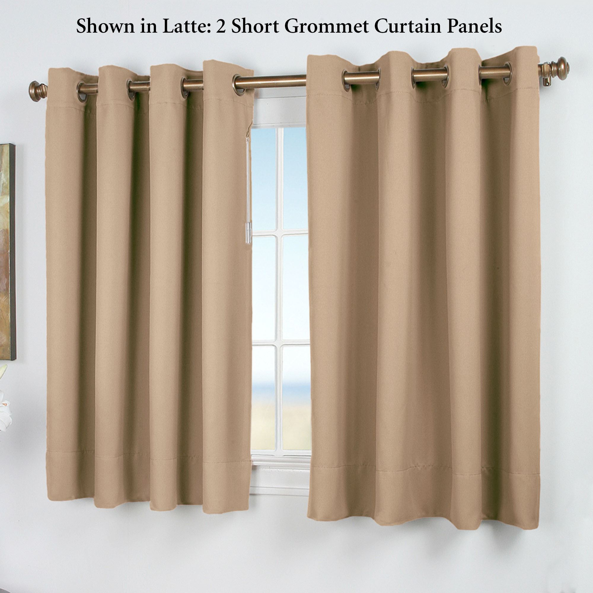 Ultimate Blackout Short Grommet Curtain Panel