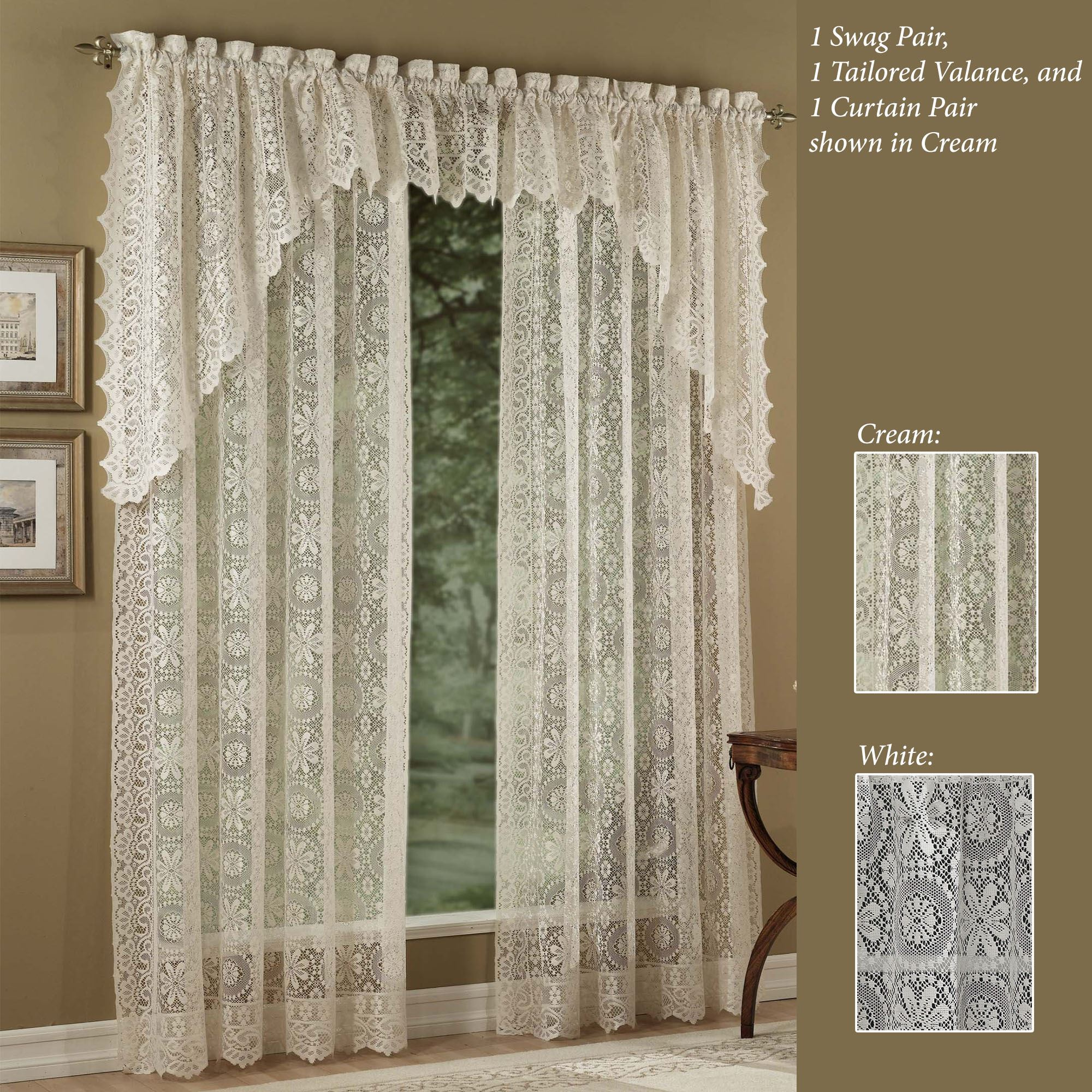 Hopewell Lace Window Treatment