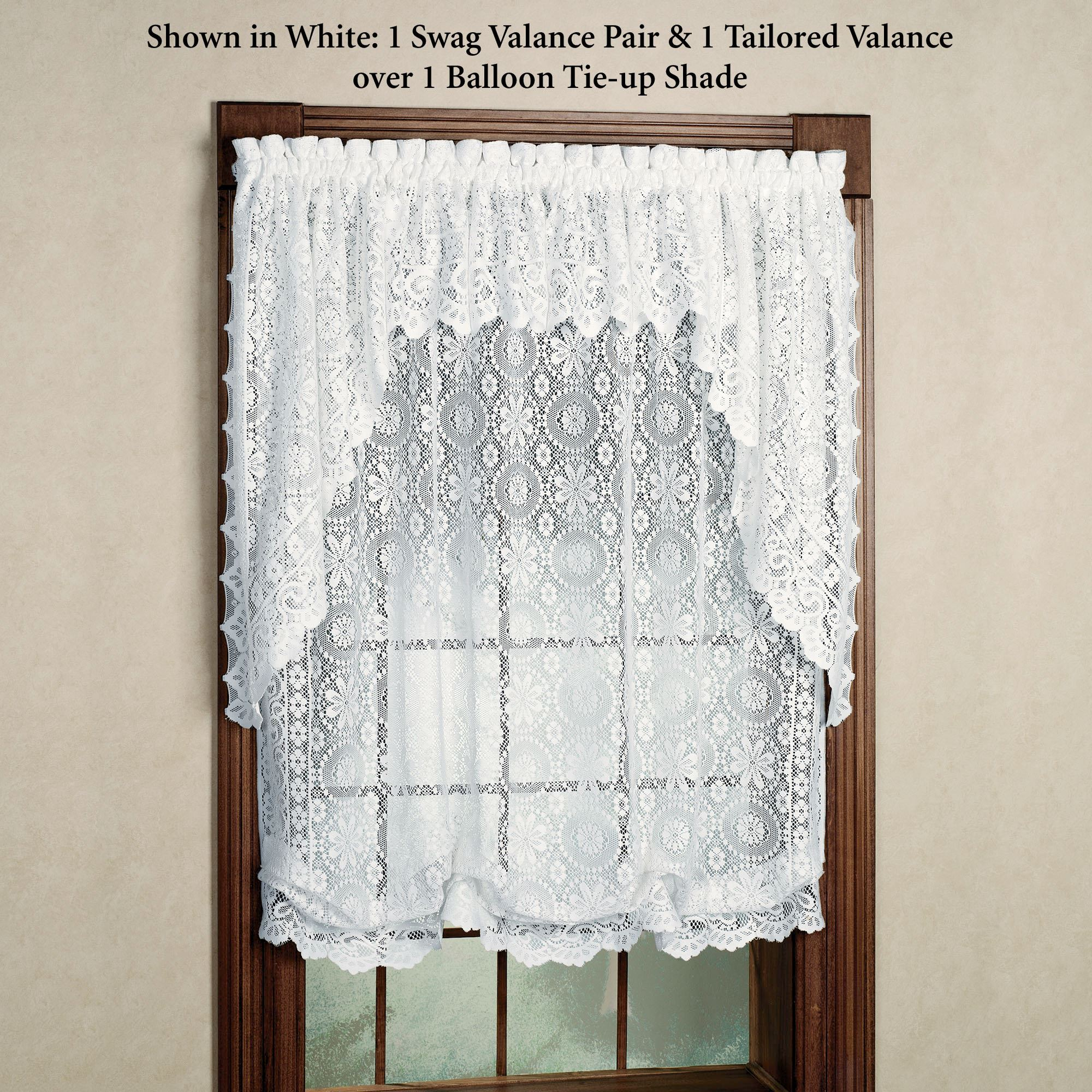 Hopewell Lace Balloon Shade And Valances