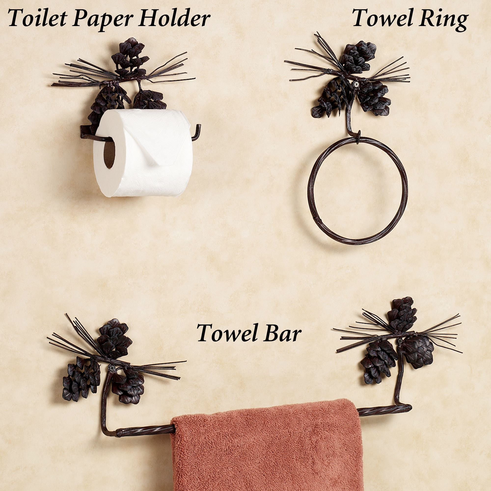 FREE SHIPPING. Pine Cone Toilet ...