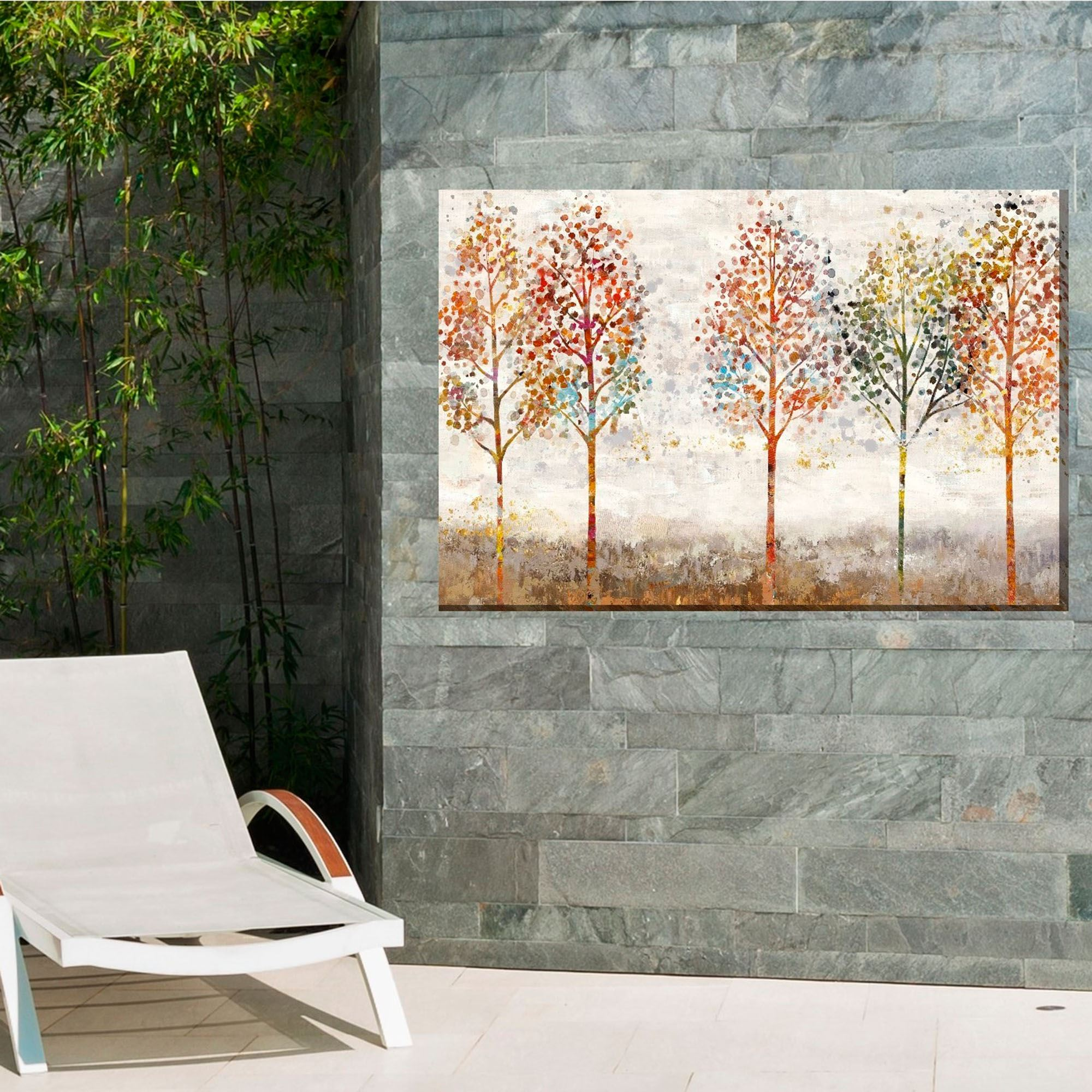 Young Forest Trees Indoor Outdoor Canvas Wall Art