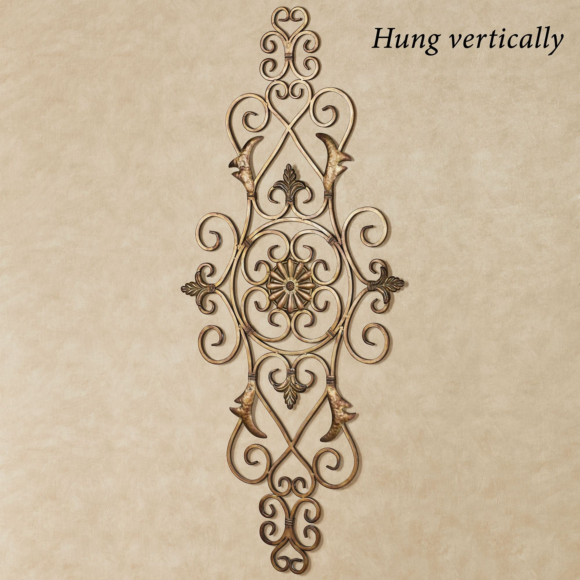 Antique Scroll Art: Merano Scrolling Metal Wall Grille