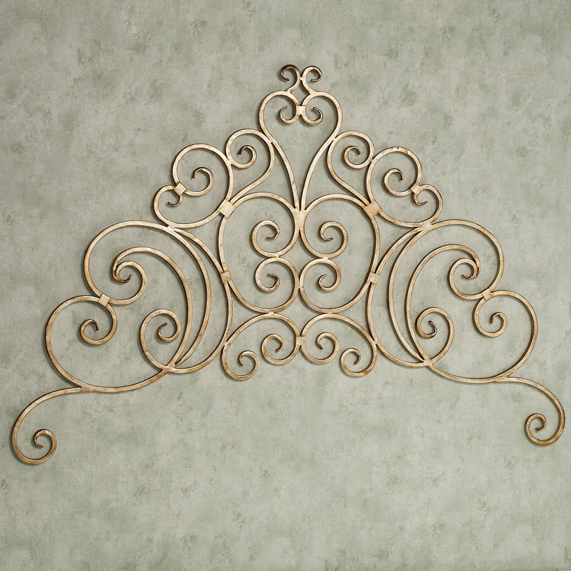 Marsala Scrolling Wall Grille Antique Gold Touch To Zoom