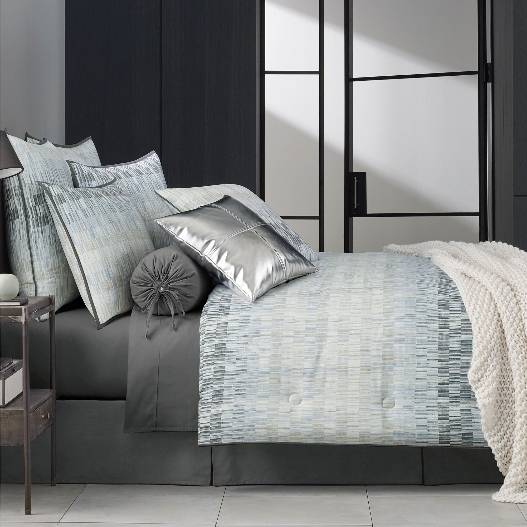 Flatiron Abstract Comforter Bedding By Oscar Oliver New York City
