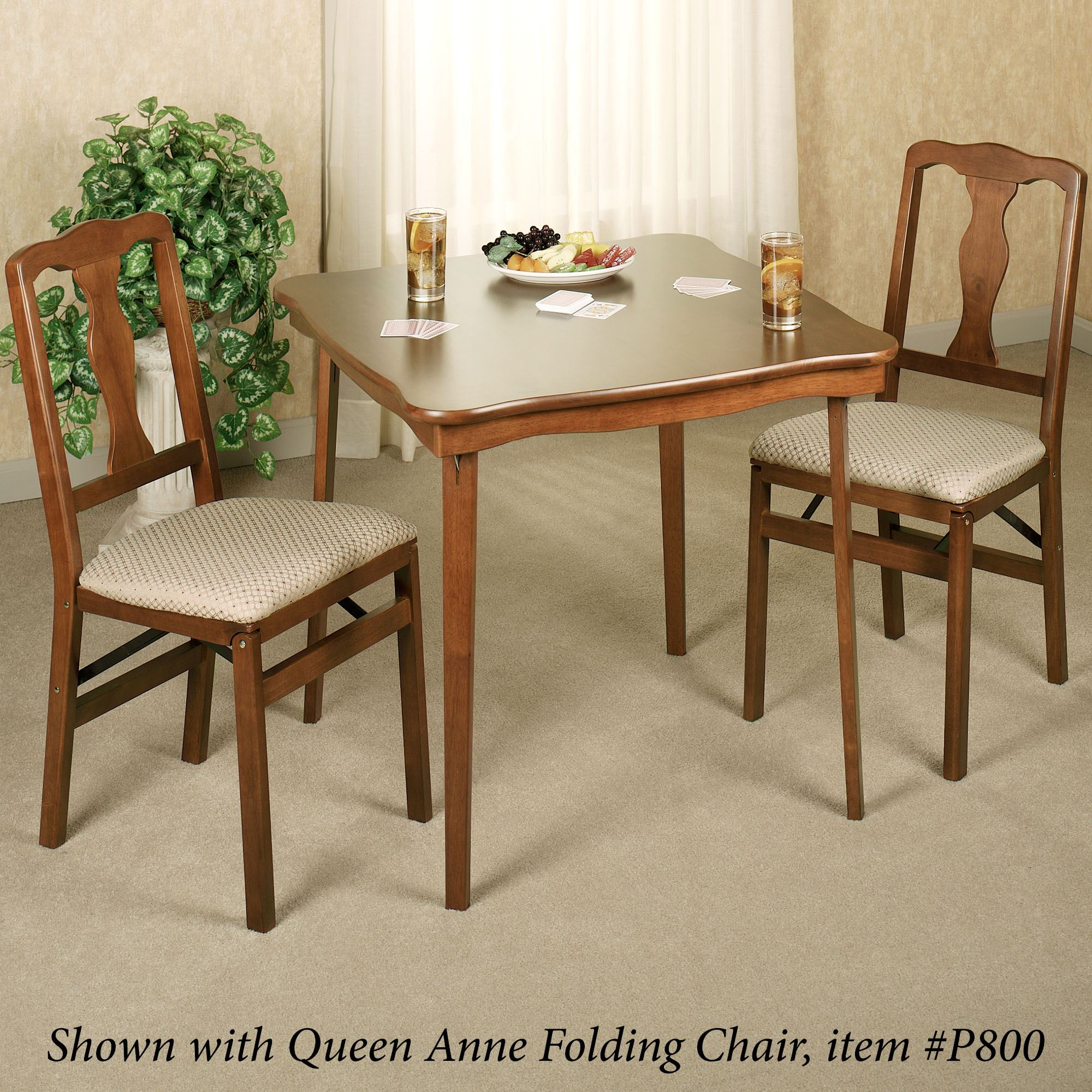 Well-known Scalloped Folding Card Table LI69