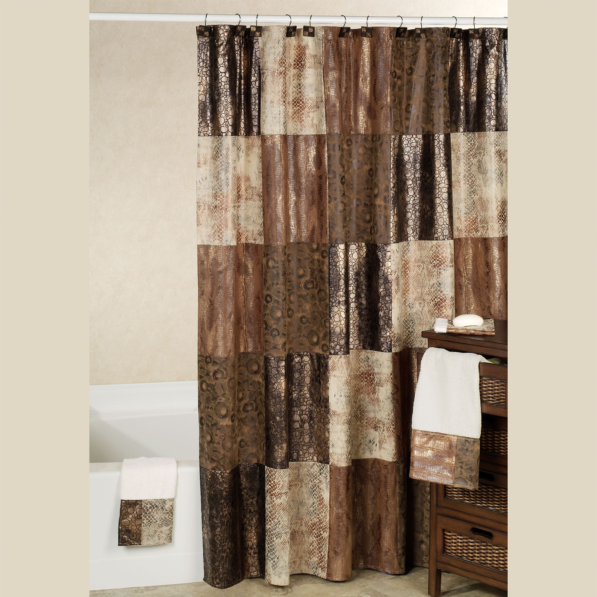 Zambia Shower Curtain Copper