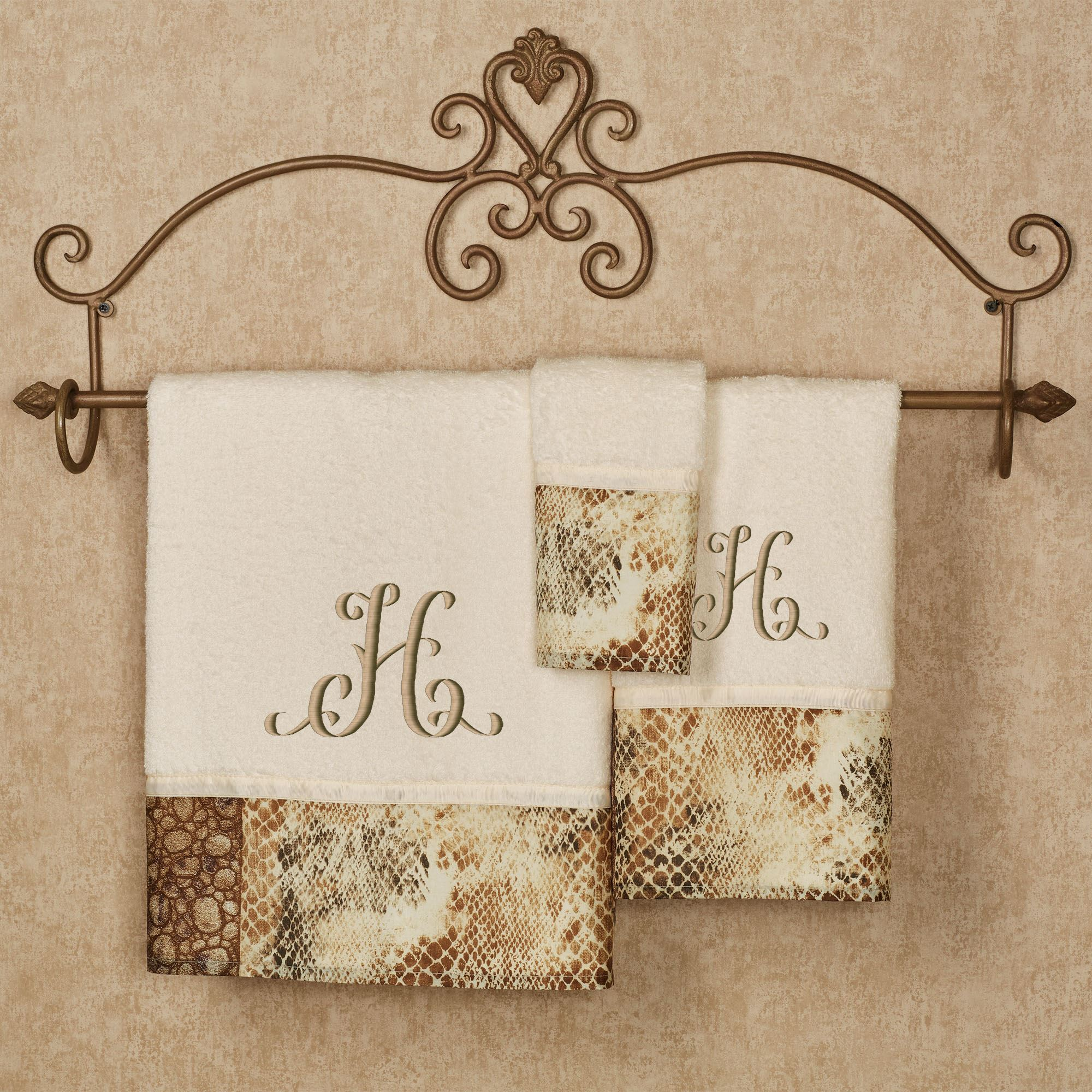 Zambia bath towel set for Beige bathroom set