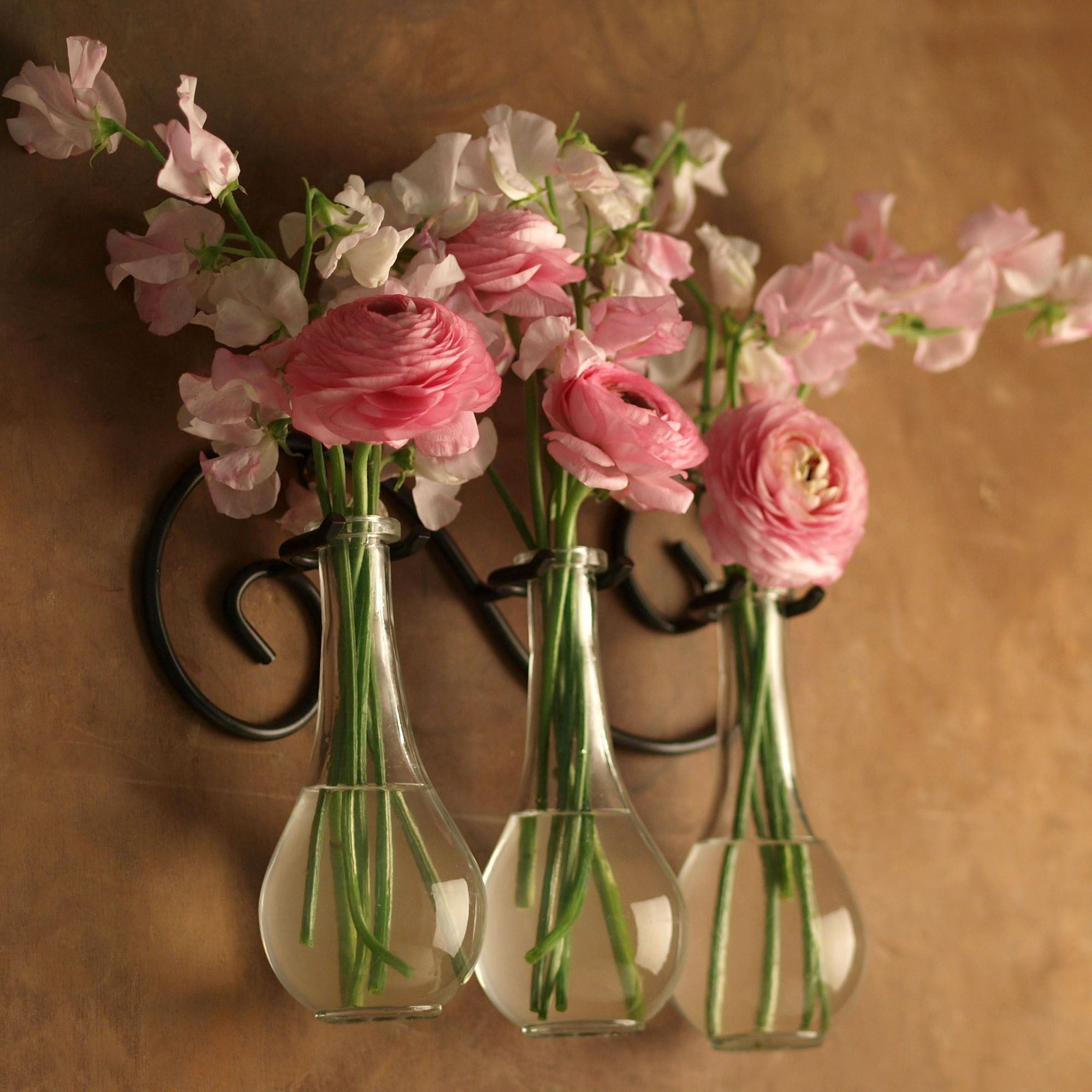 Metal Scroll Wall Hanger With Drop Bottle Gl Vases