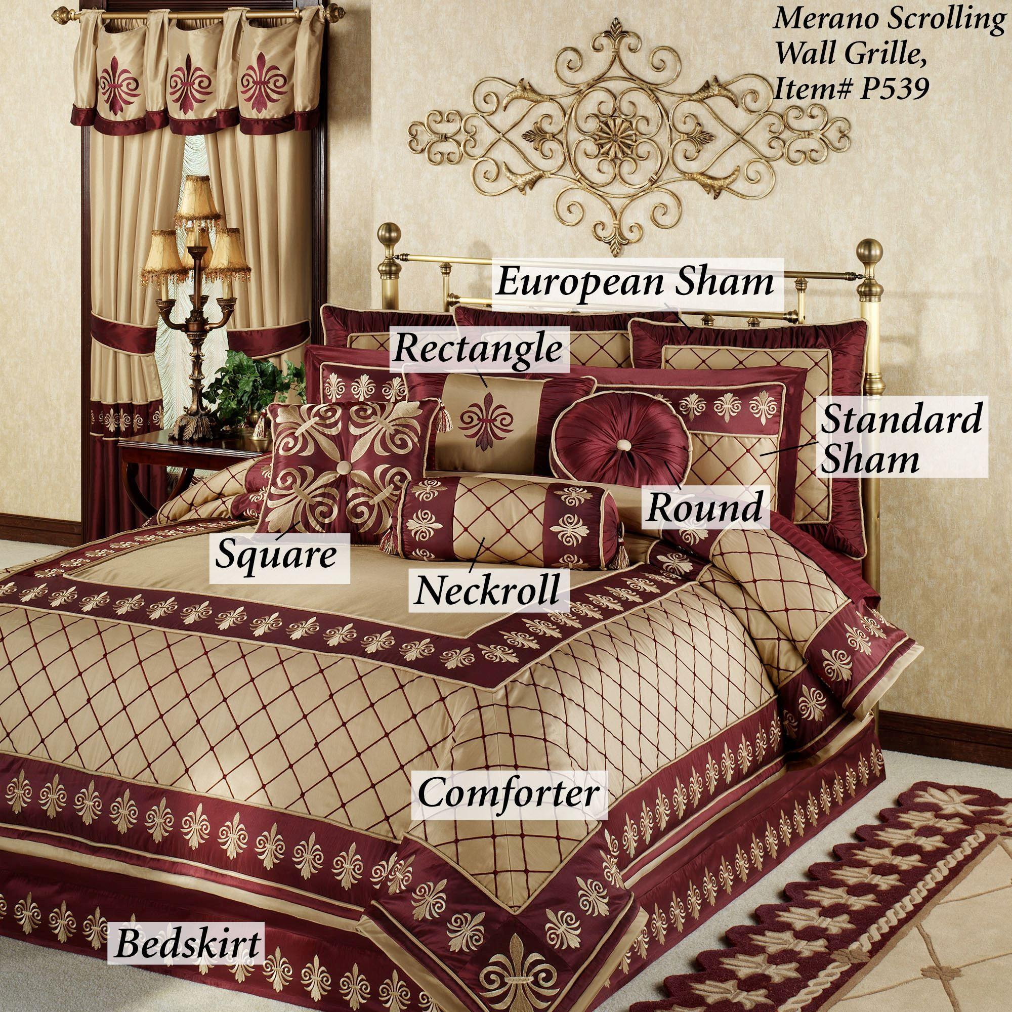 Roman empire fleur de lis comforter bedding - Fleur de lis comforter ...