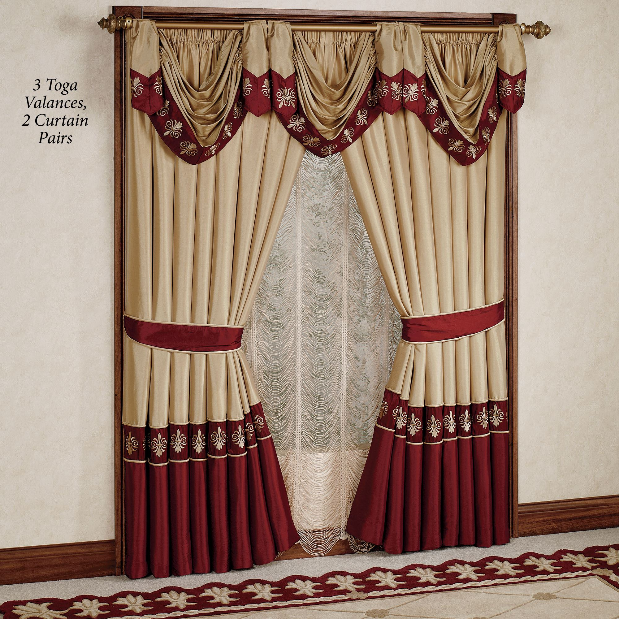 Wine Colored Kitchen Curtains