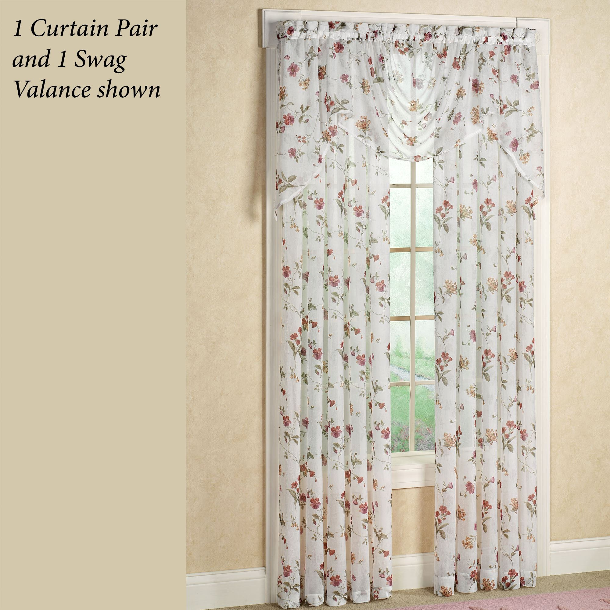 Princeton Sheer Floral Window Treatment